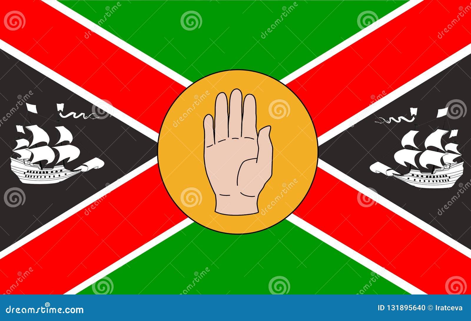 Vlag van Provincie Louth in Ierland