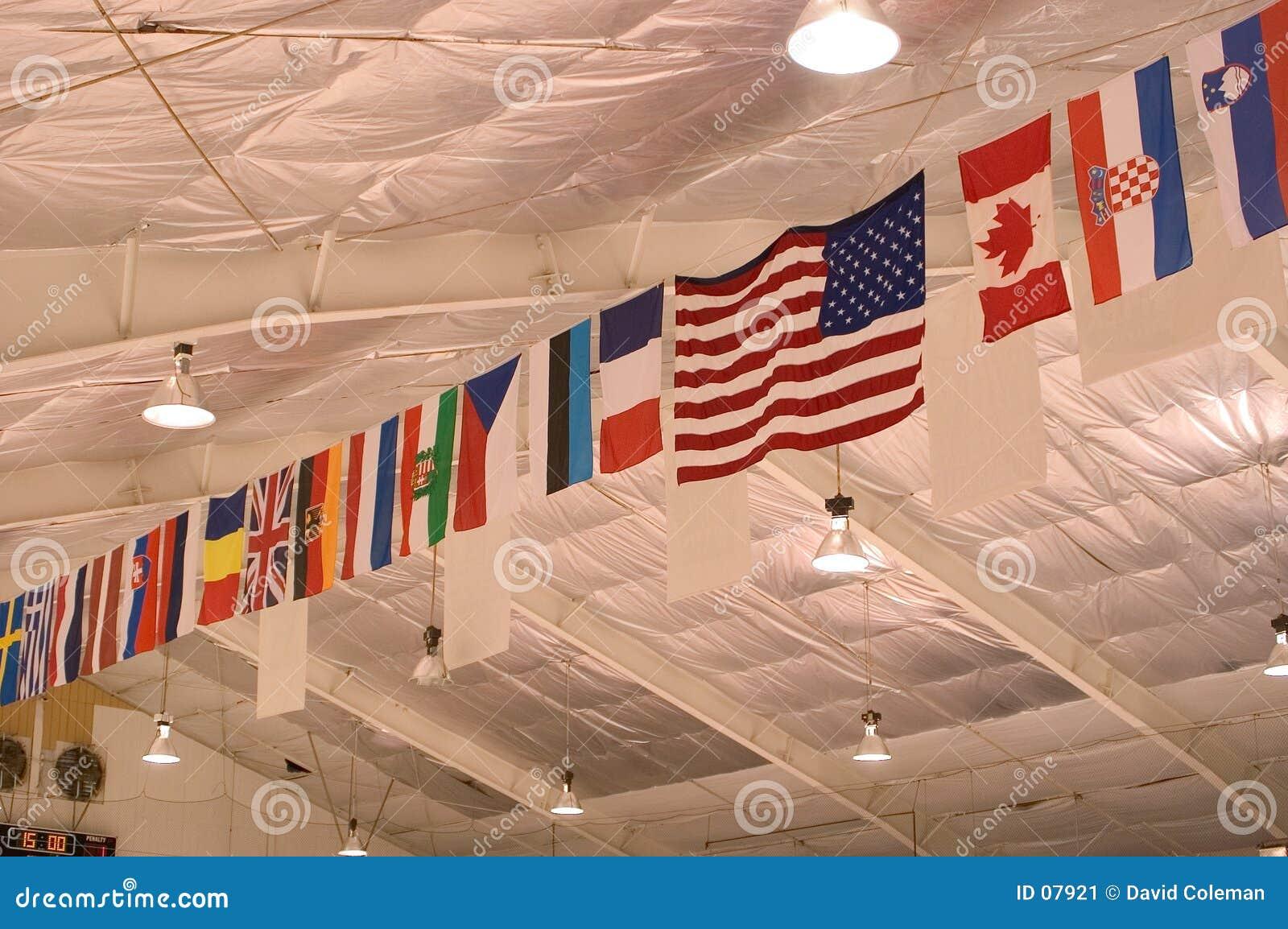 Vlaggen op het Plafond