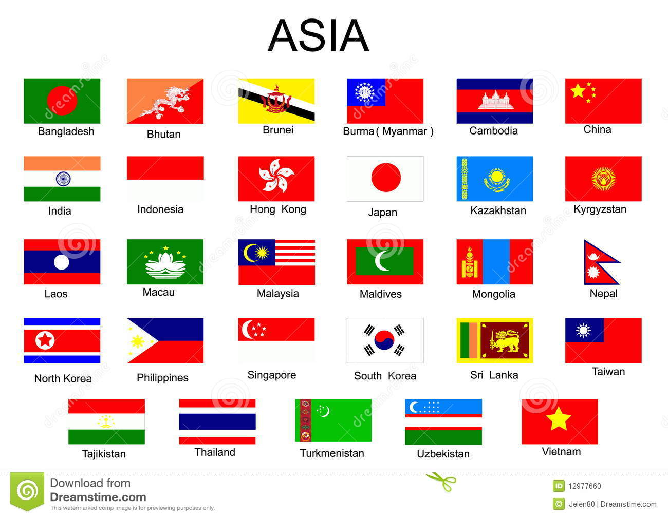 Flags Of The World With Names For Kids