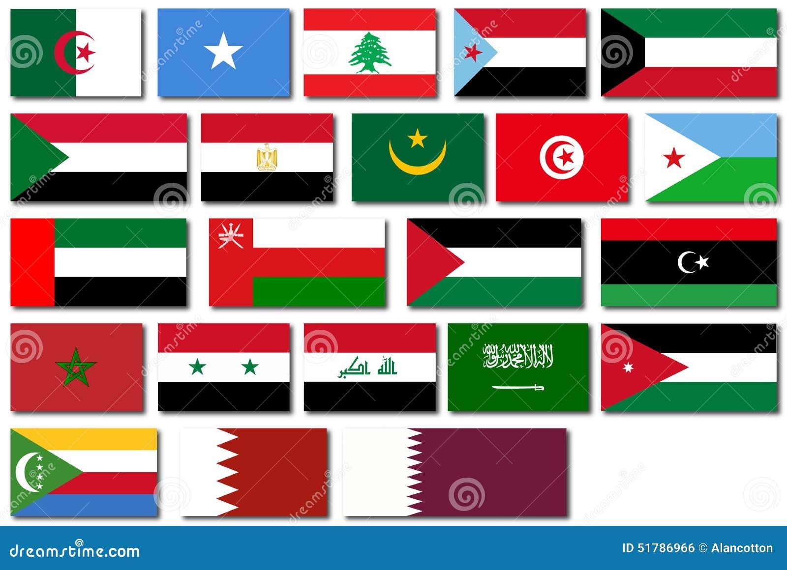 Afbeeldingsresultaat voor vlaggen arabische landen