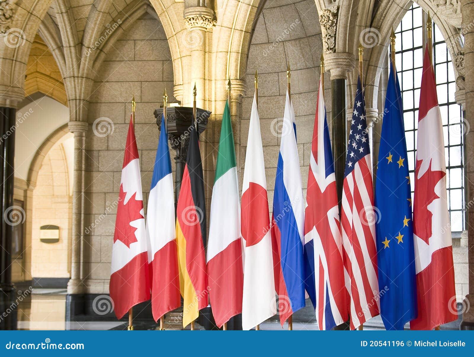Vlaggen van de G8 Landen