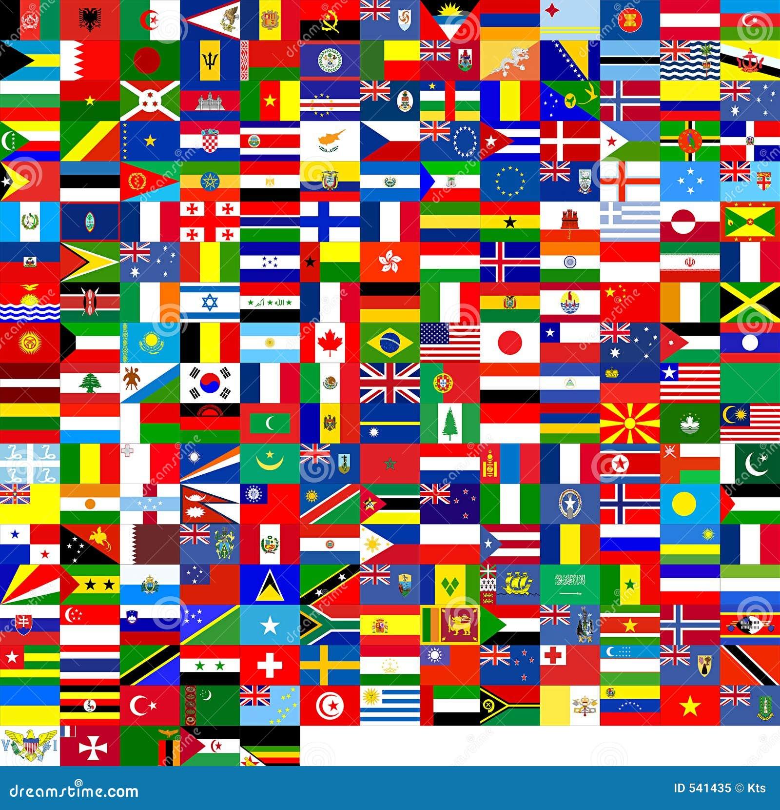 Vlaggen van de wereld (240 vlaggen)