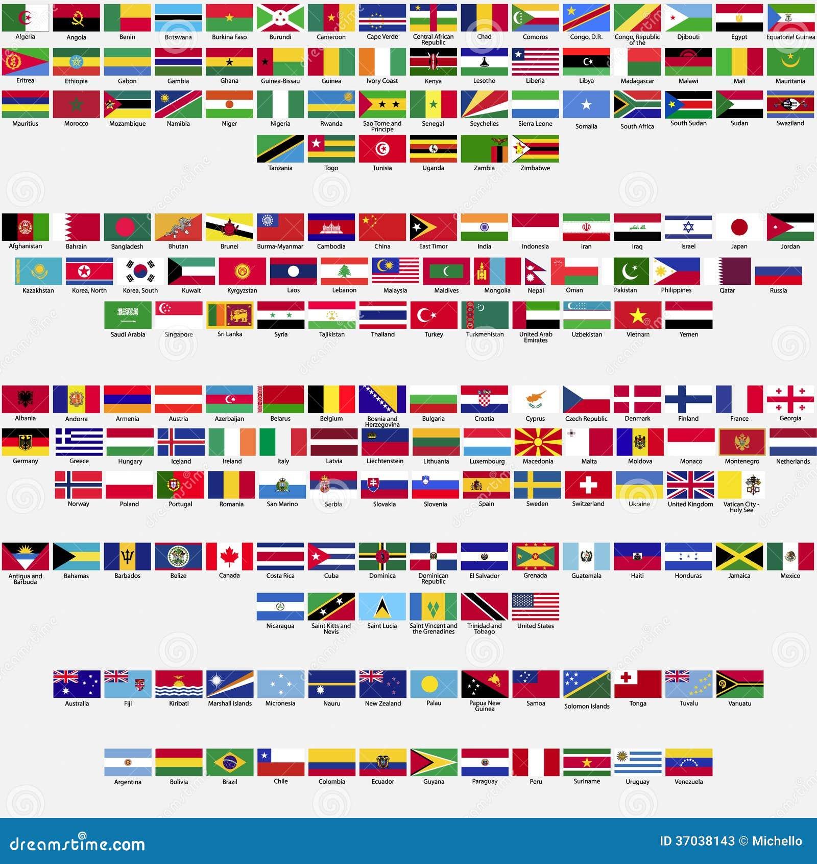 Vlaggen van de wereld inzameling stock foto 39 s beeld 37038143 - Vloerlamp van de wereld ...
