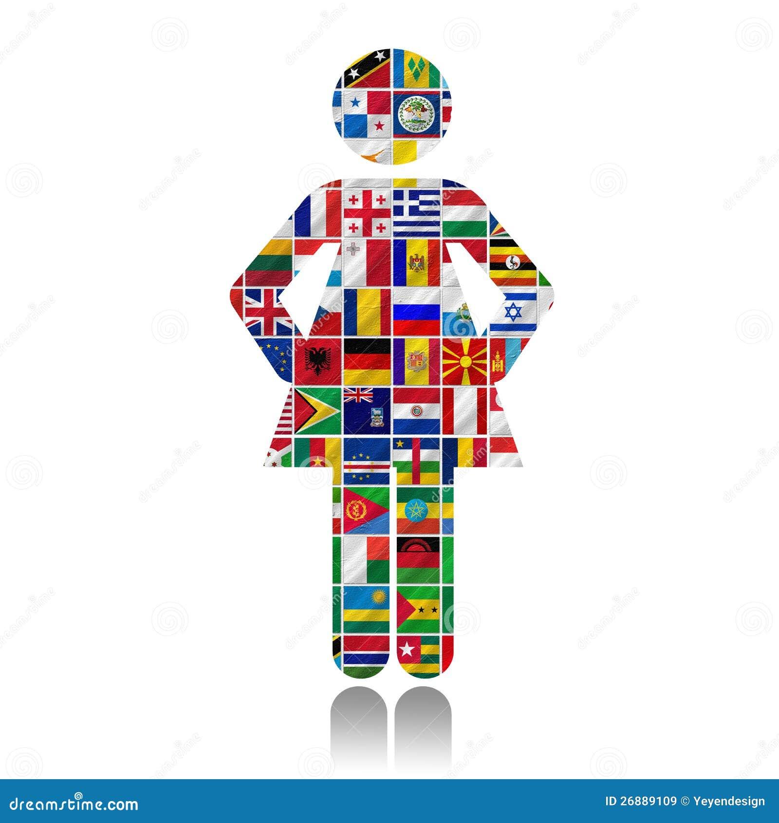 Vlaggen van de wereld met pictogramreeks stock illustratie afbeelding 26889109 - De thuisbasis van de wereld chesterfield ...