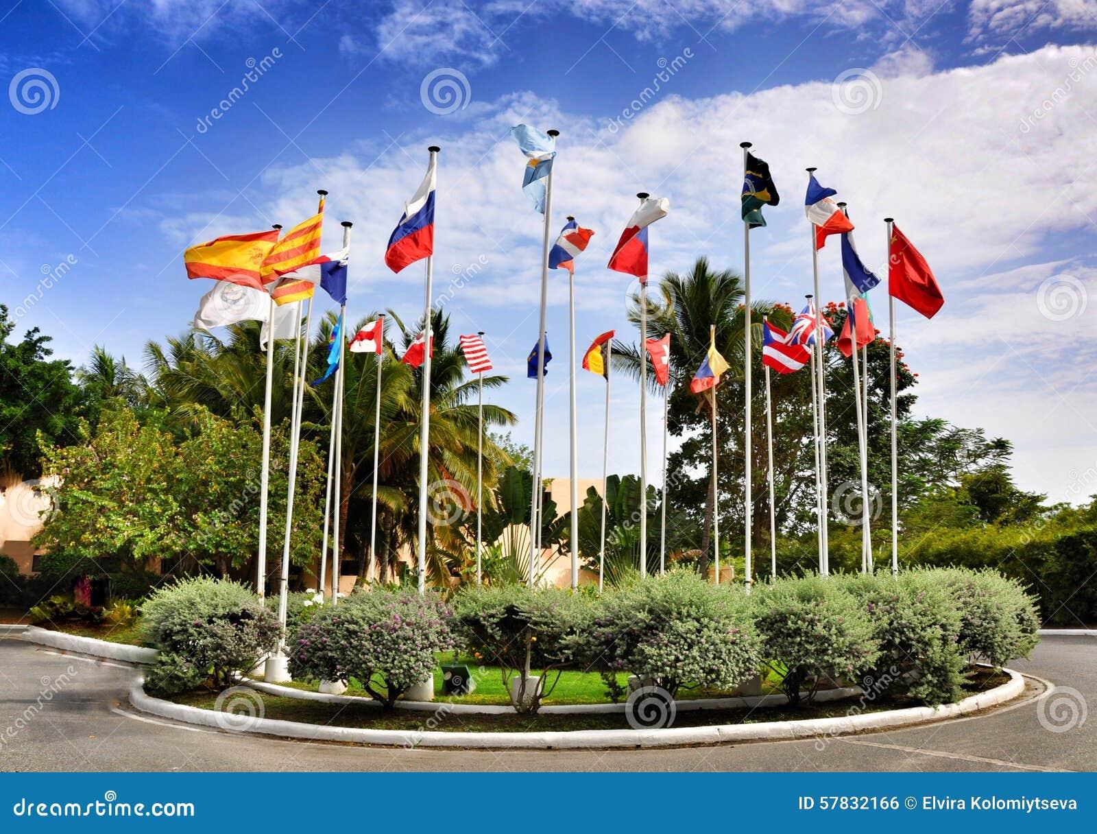Vlaggen van 25 landen de wereld