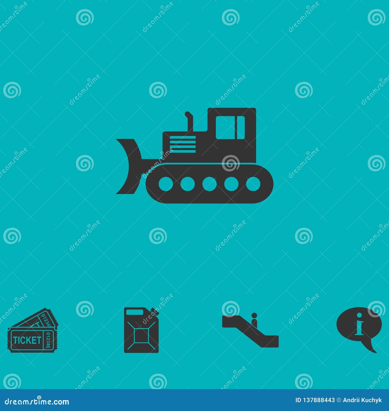 Vlak bulldozerpictogram