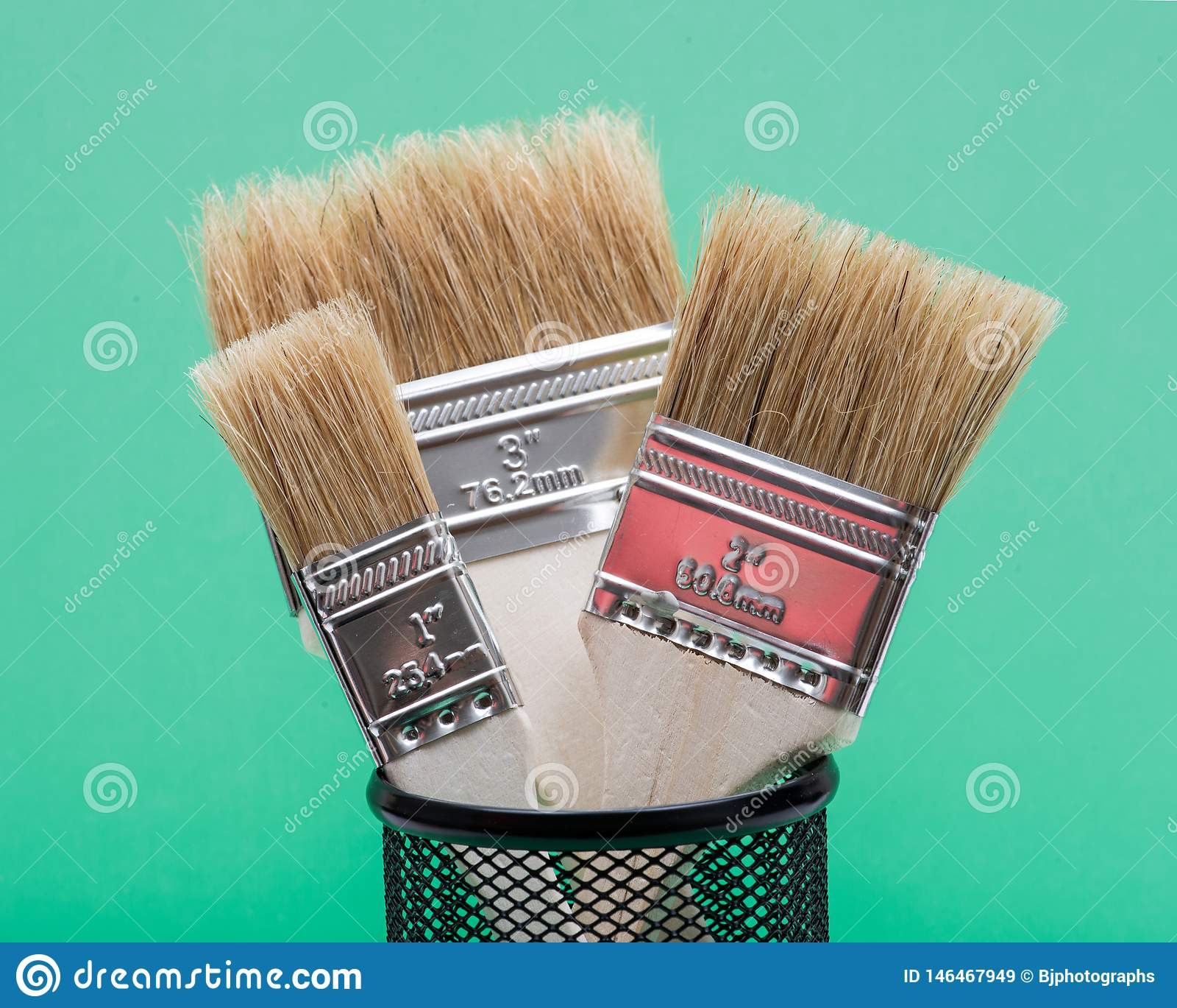 Vlak die Chip Painting Brush op groen wordt ge?soleerd