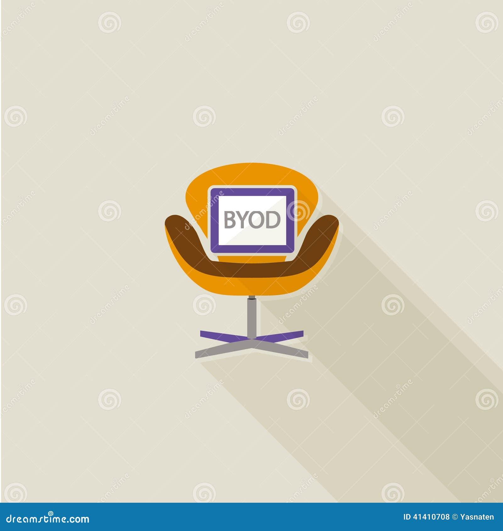 Vlak lang de schaduwontwerp van BYOD