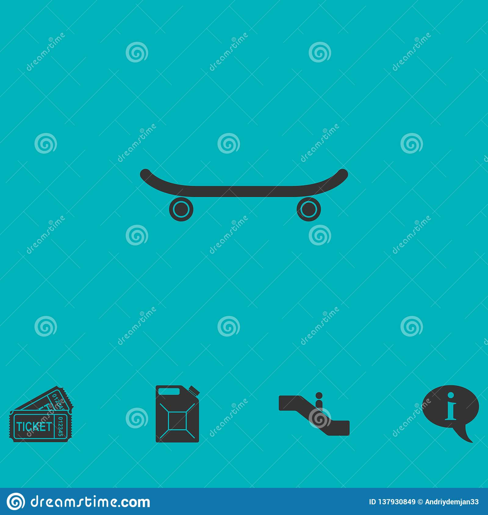Vlak skateboardpictogram