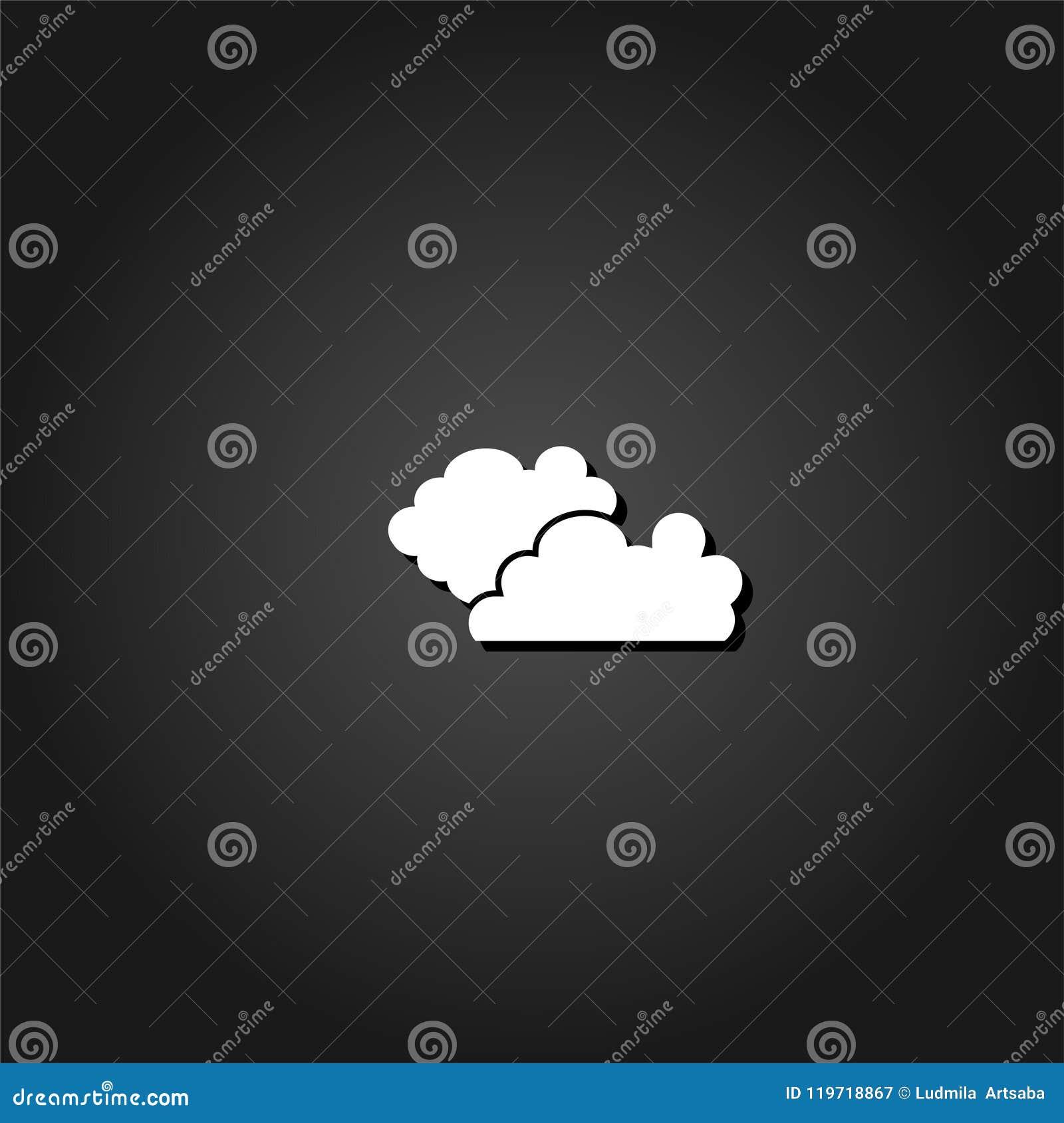 Vlak wolkenpictogram