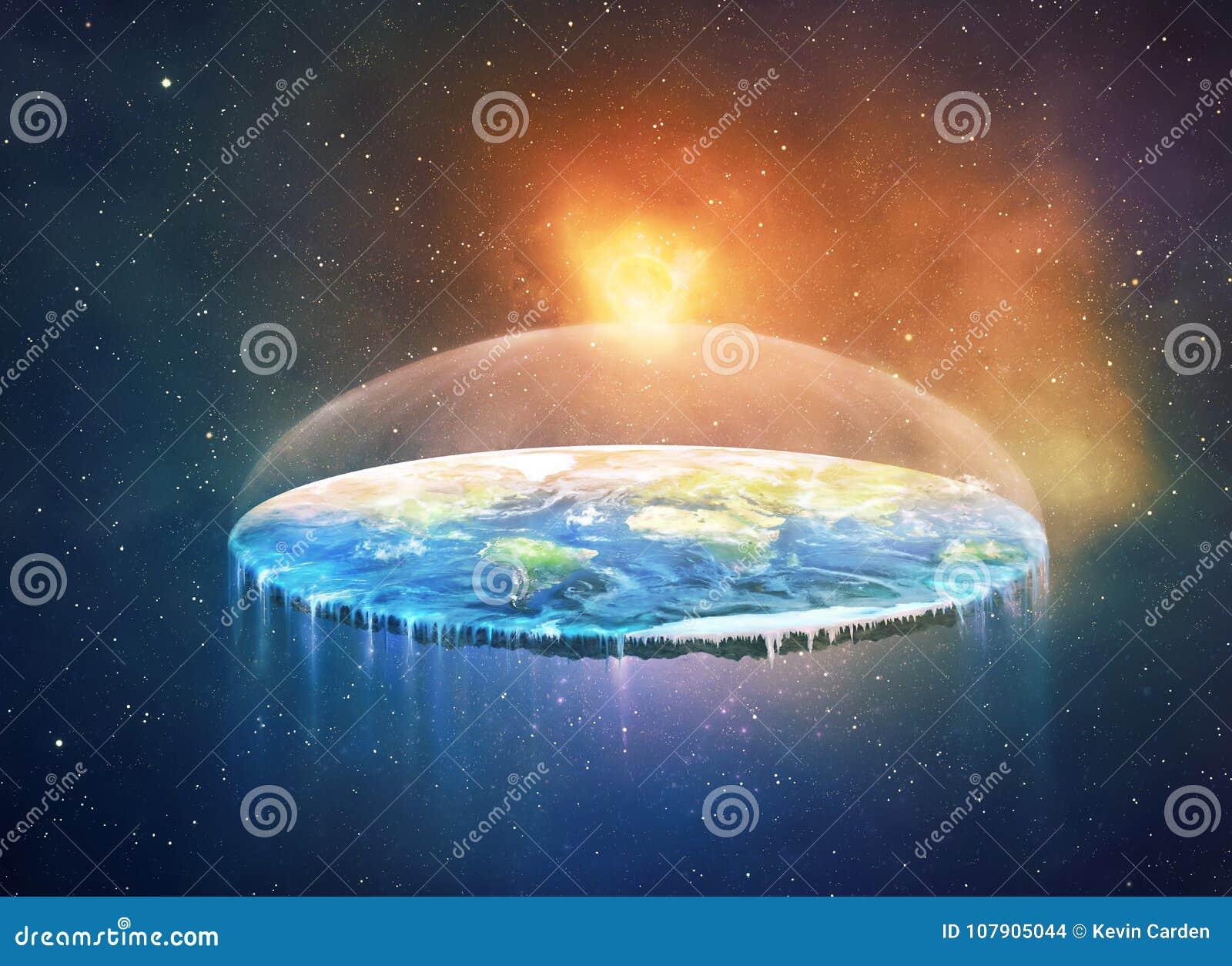 Vlakke aarde in ruimte