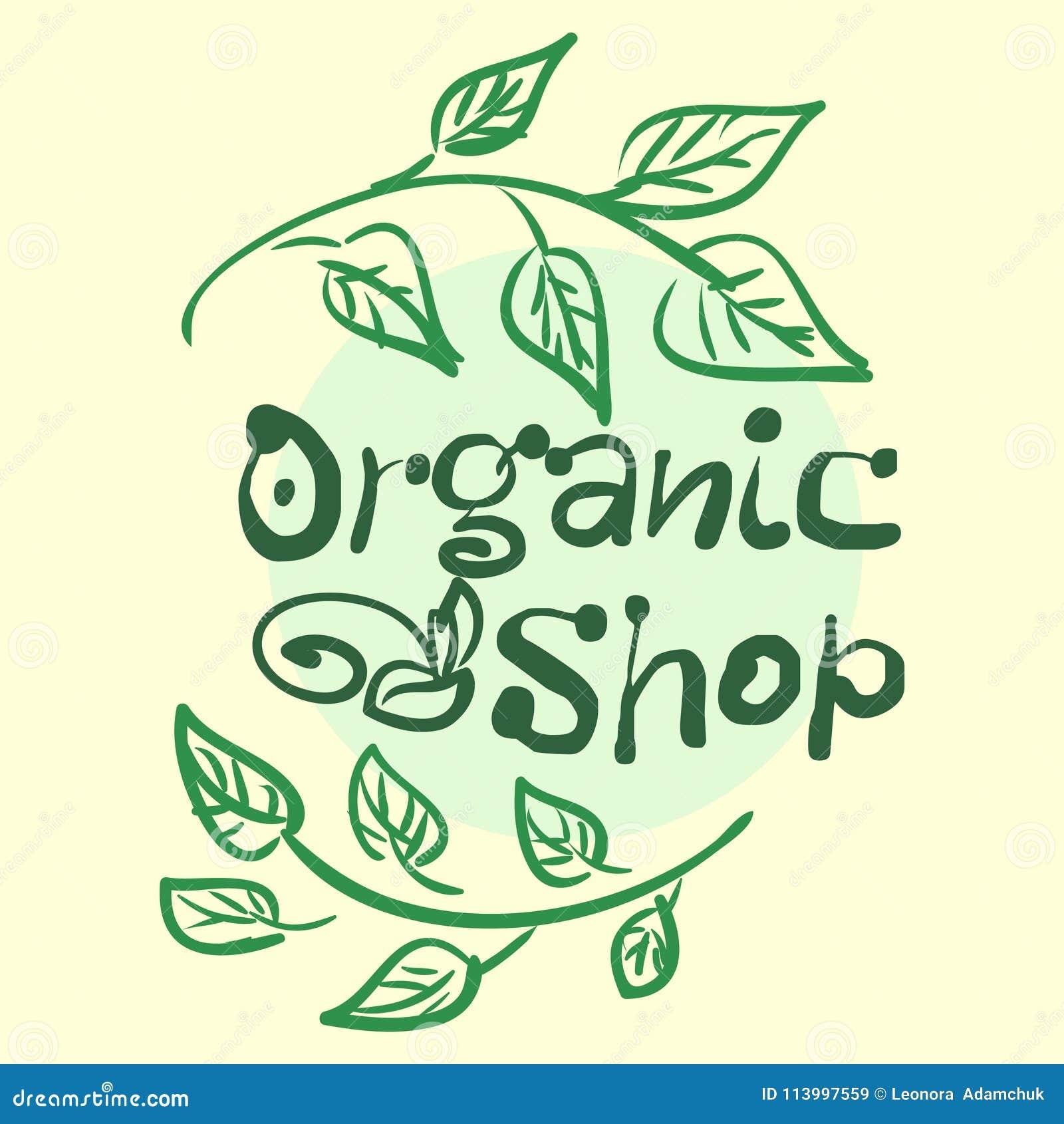 Vlakke etiketinzameling van biologisch product 100 en premie het kentekenelementen van de kwaliteitsnatuurvoeding Geïsoleerdj op