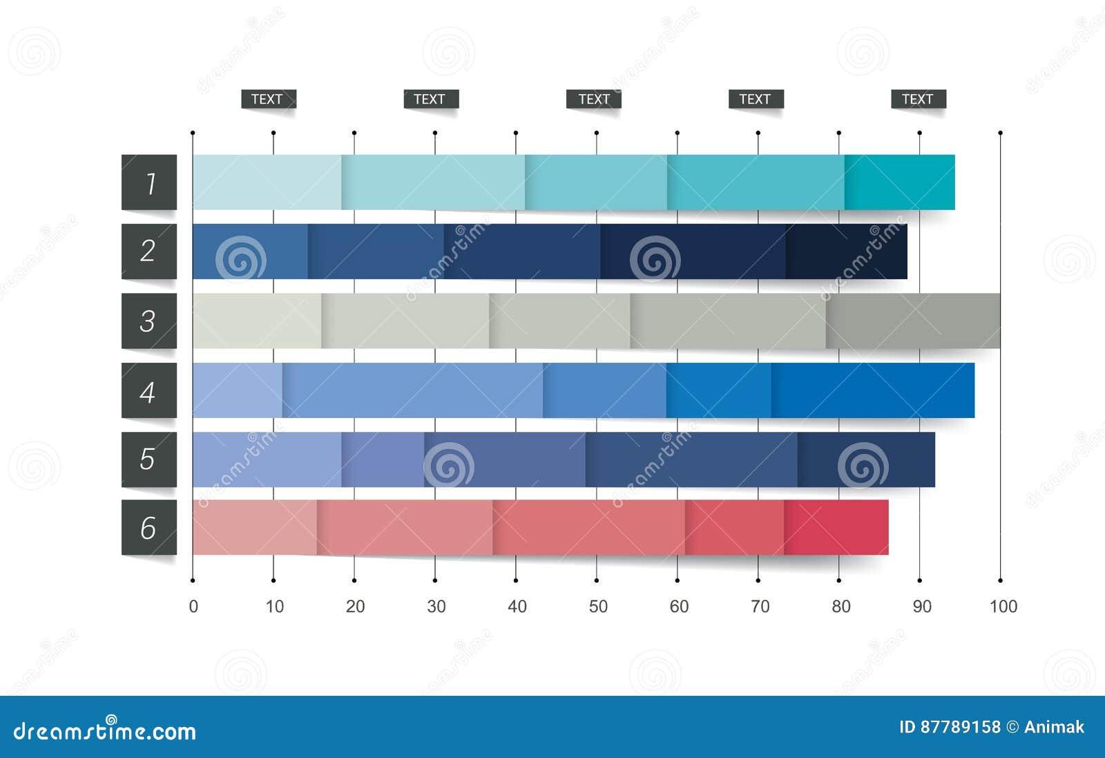 Vlakke grafiek, grafiek Eenvoudig editable kleur