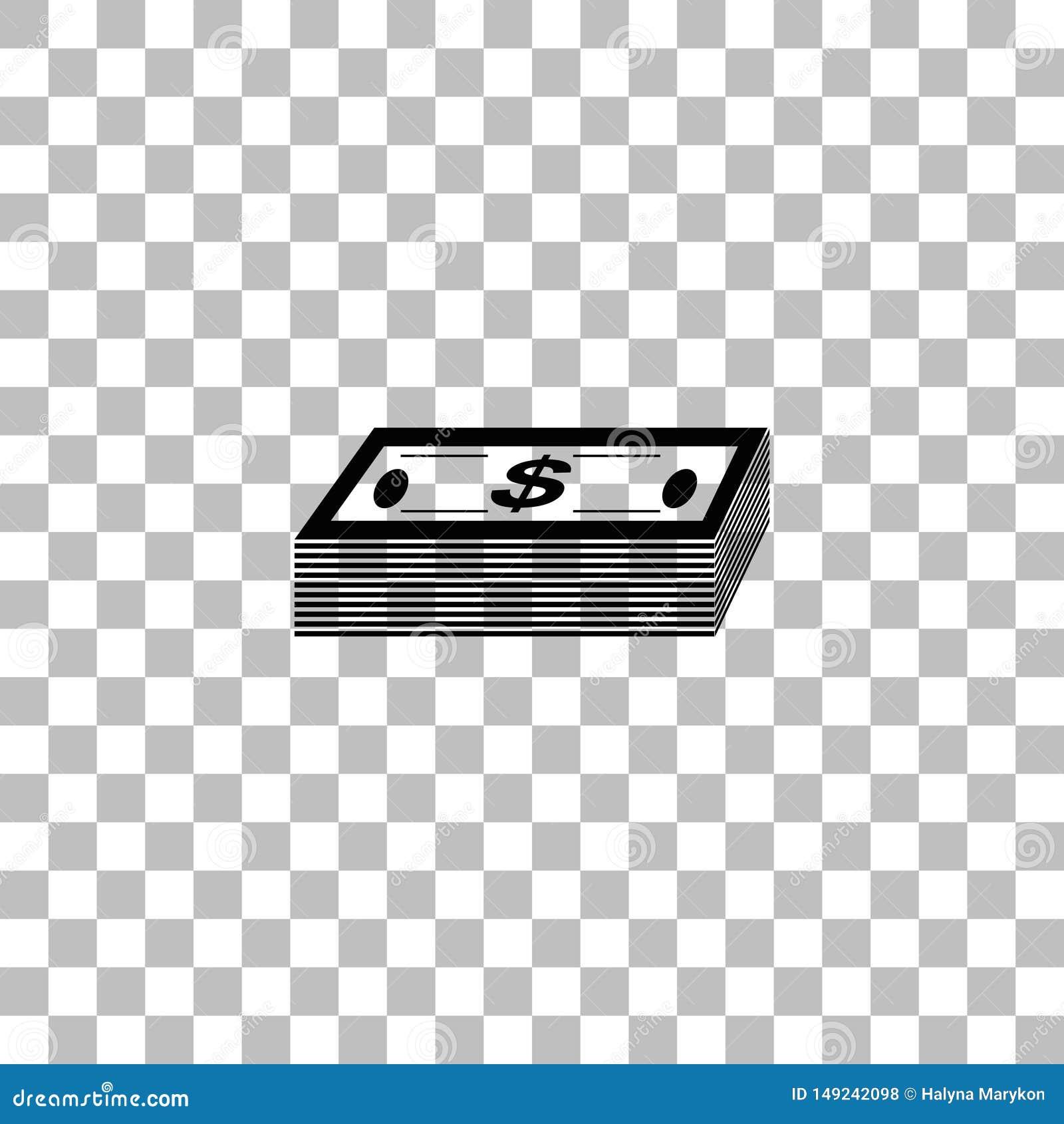 Vlakke het pictogram van het bundelgeld