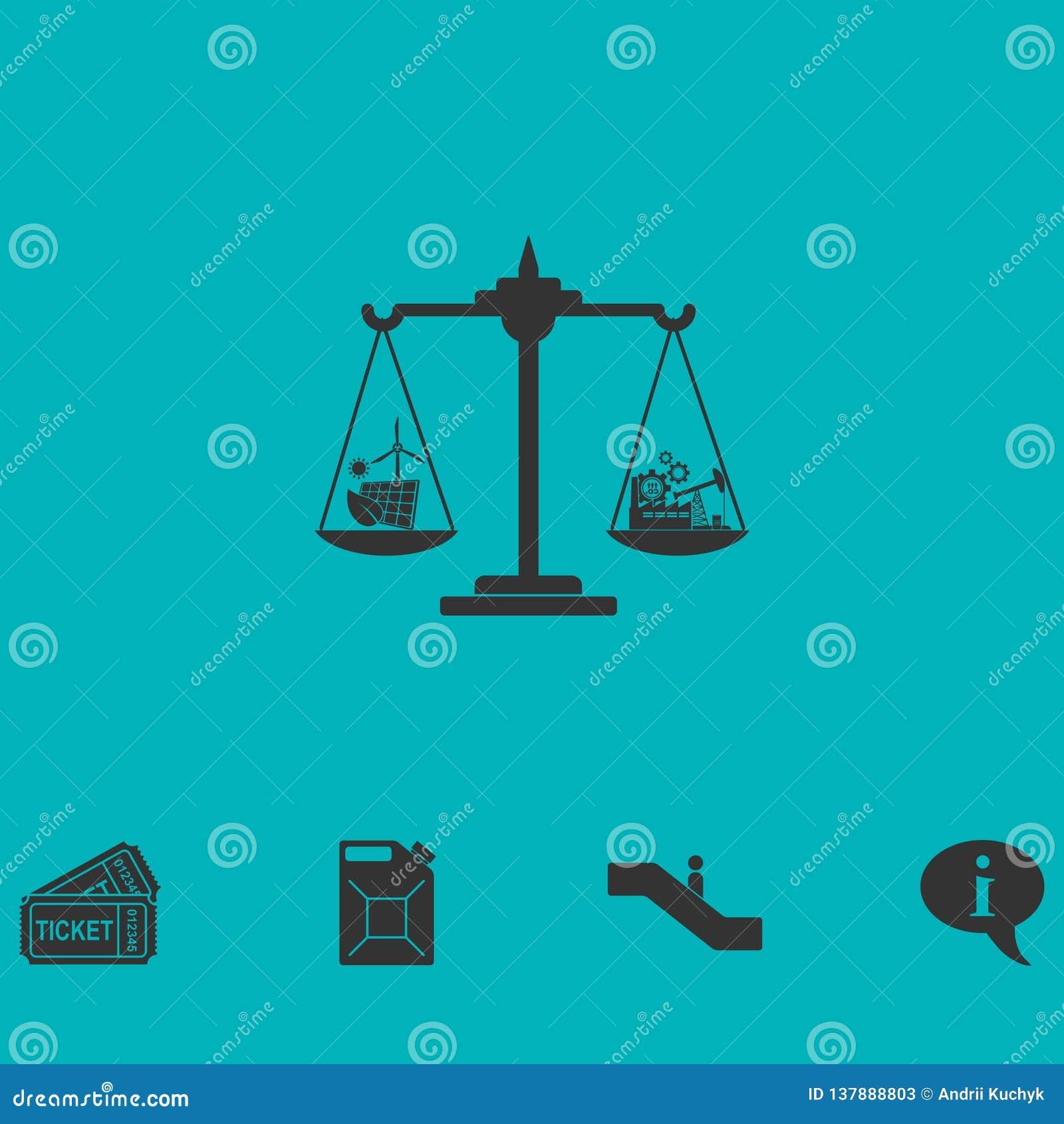 Vlakke het pictogram van het Ecoconcept