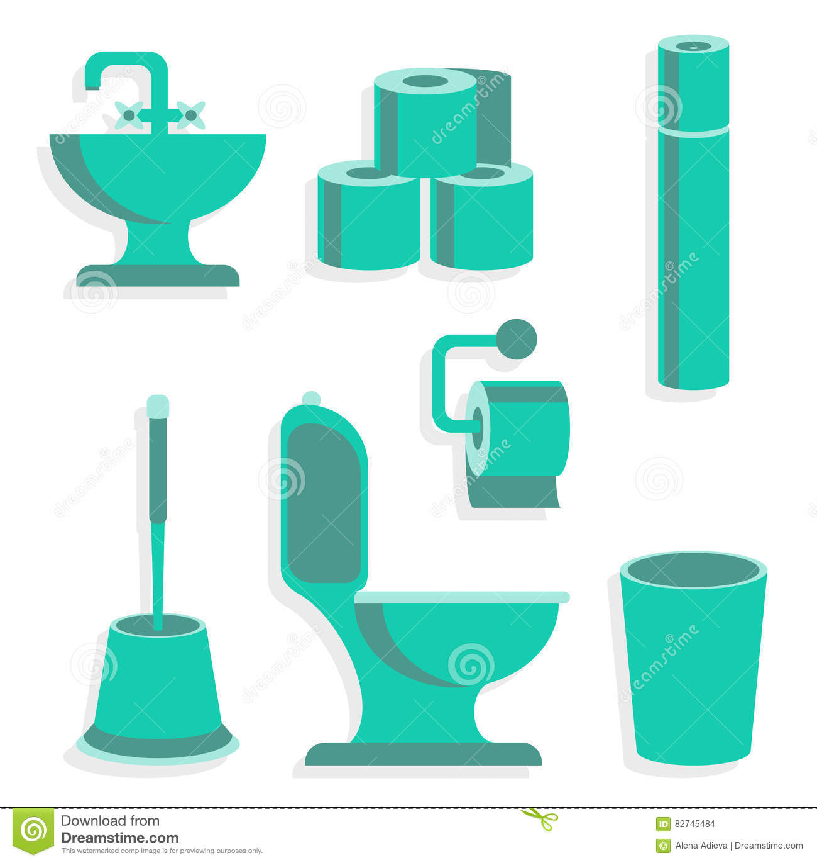 Vlakke Toiletpictogrammen