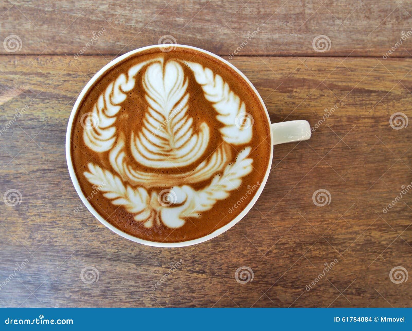 Vlakke Witte Koffie Met Lattekunst Rosetta Stock Foto ... Rosetta Reizen
