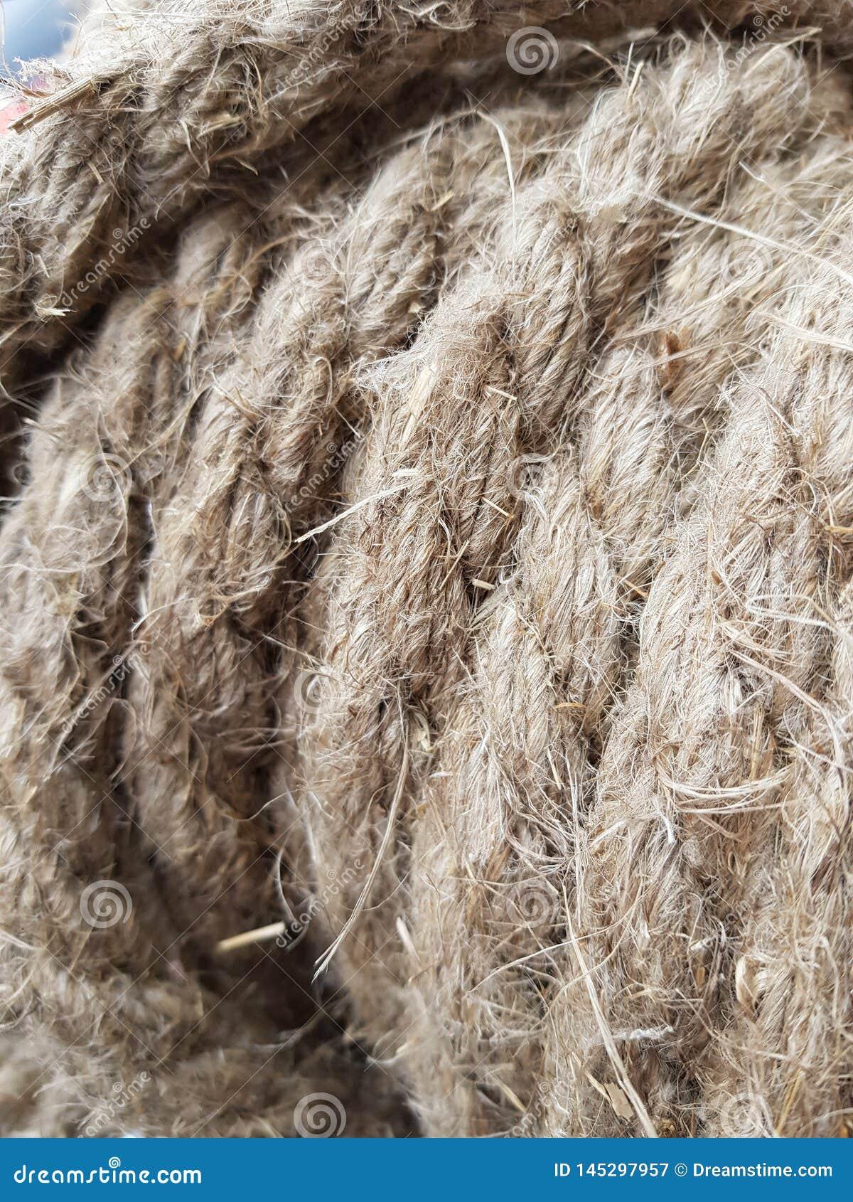 Vlaskabel van lange vlasvezels voor huisdecor
