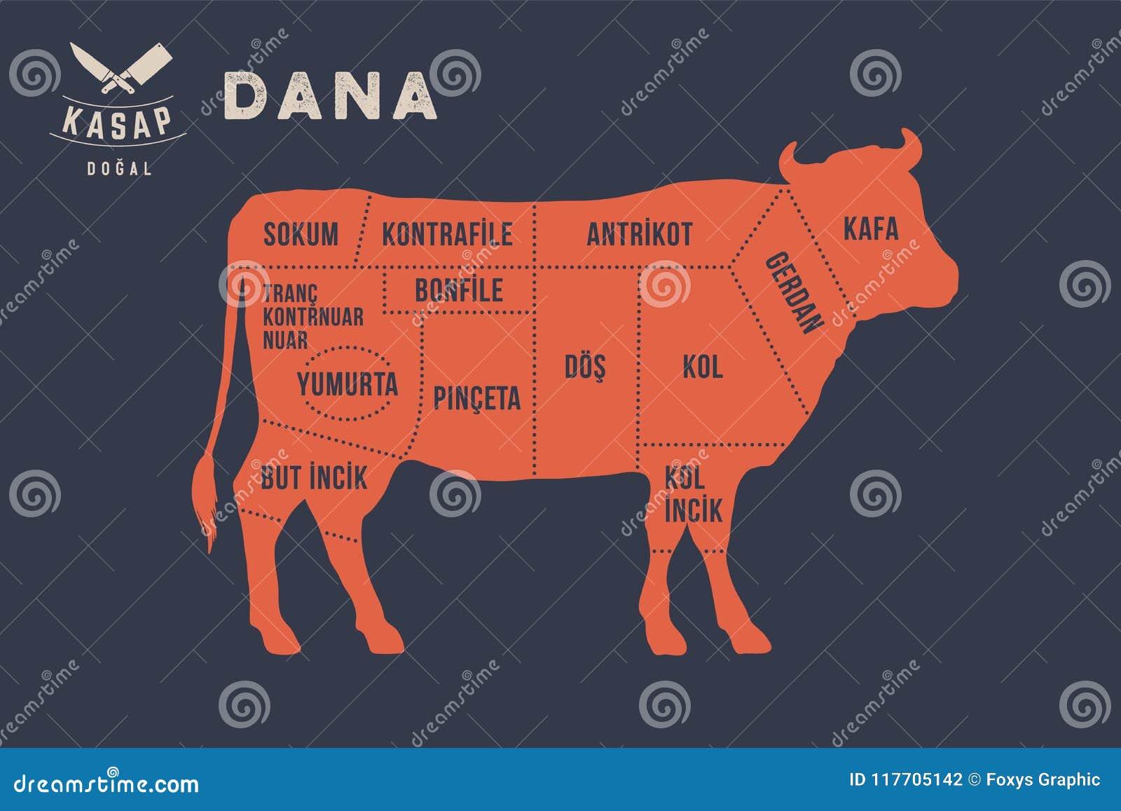 Vleesbesnoeiingen Het diagram van de afficheslager - Dana