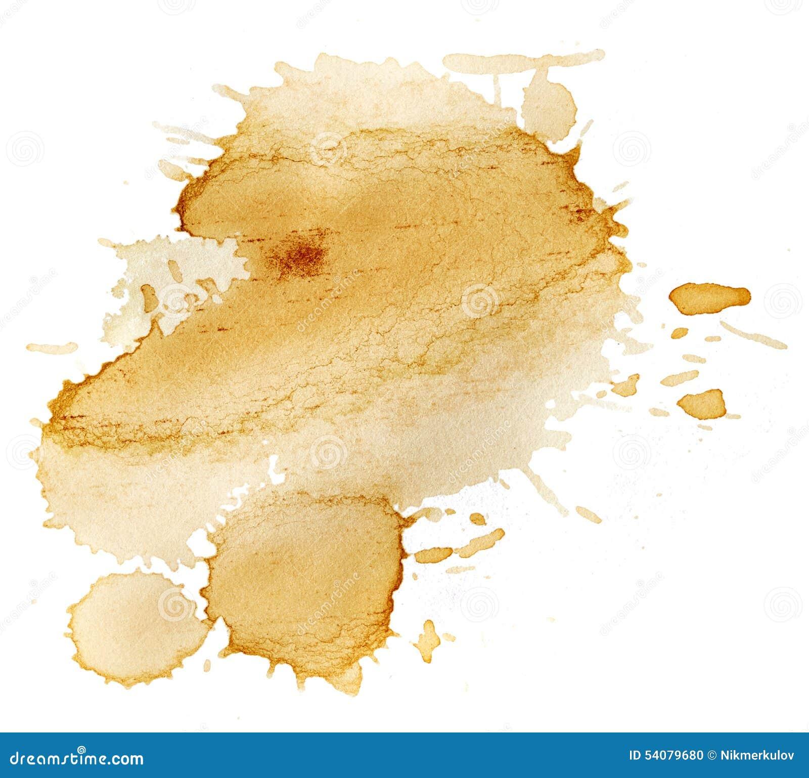 Vlekken van koffie