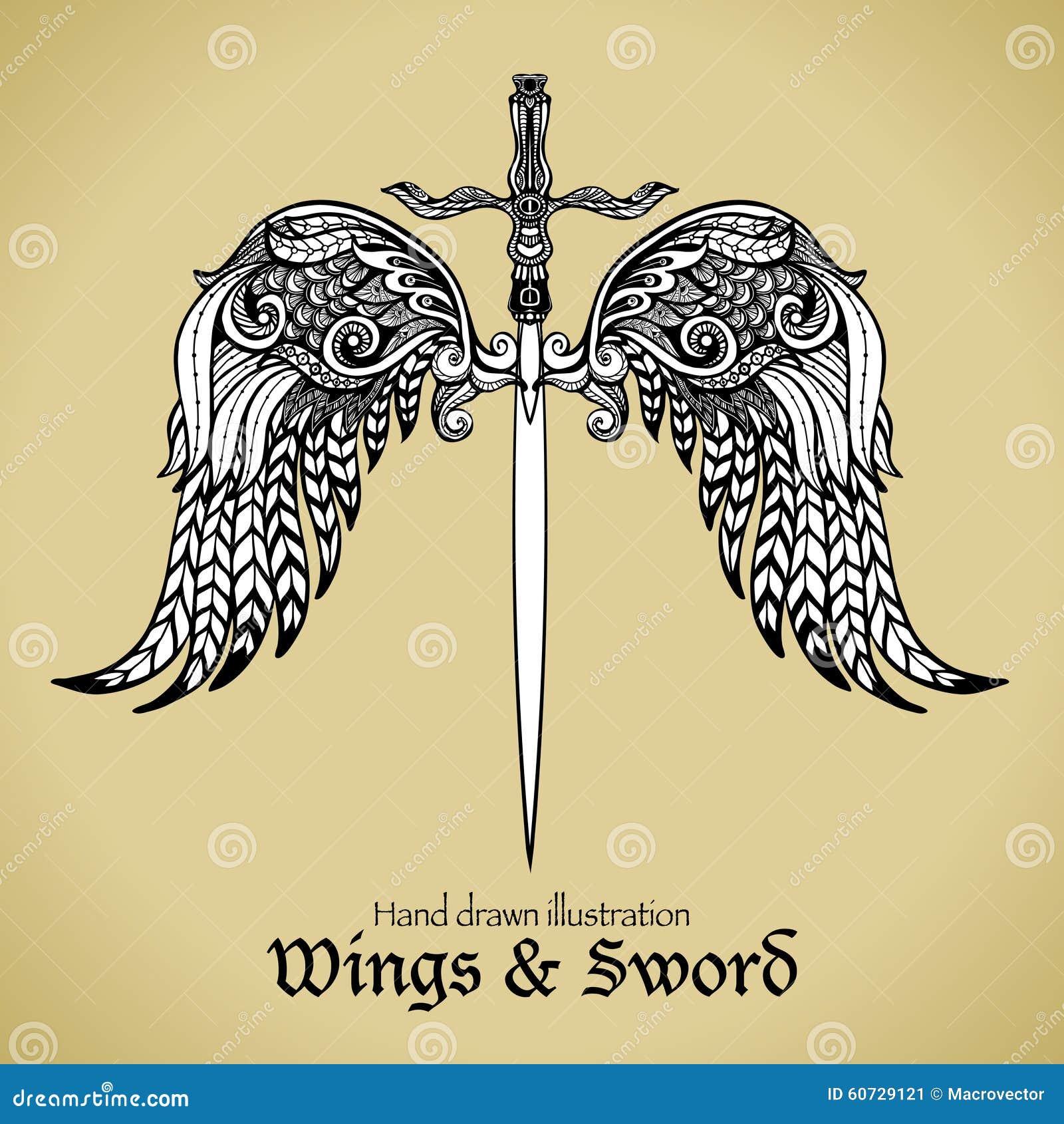 Vleugels en zwaard