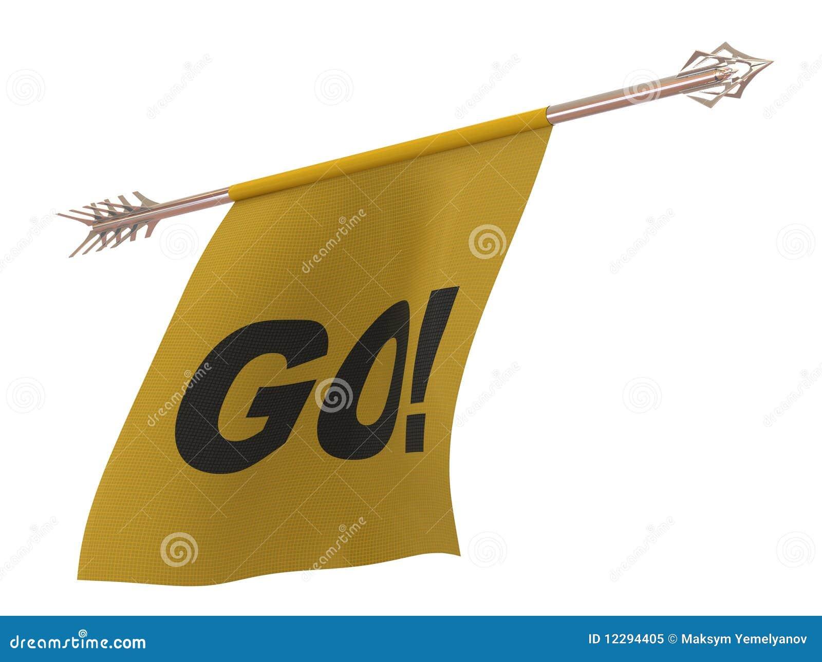 Vliegende pijl met een golvende doek royalty vrije stock foto afbeelding 12294405 - Hang een doek ...