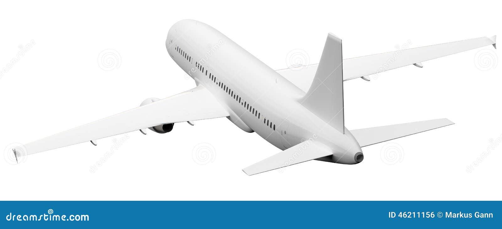 Vliegtuig achtermening