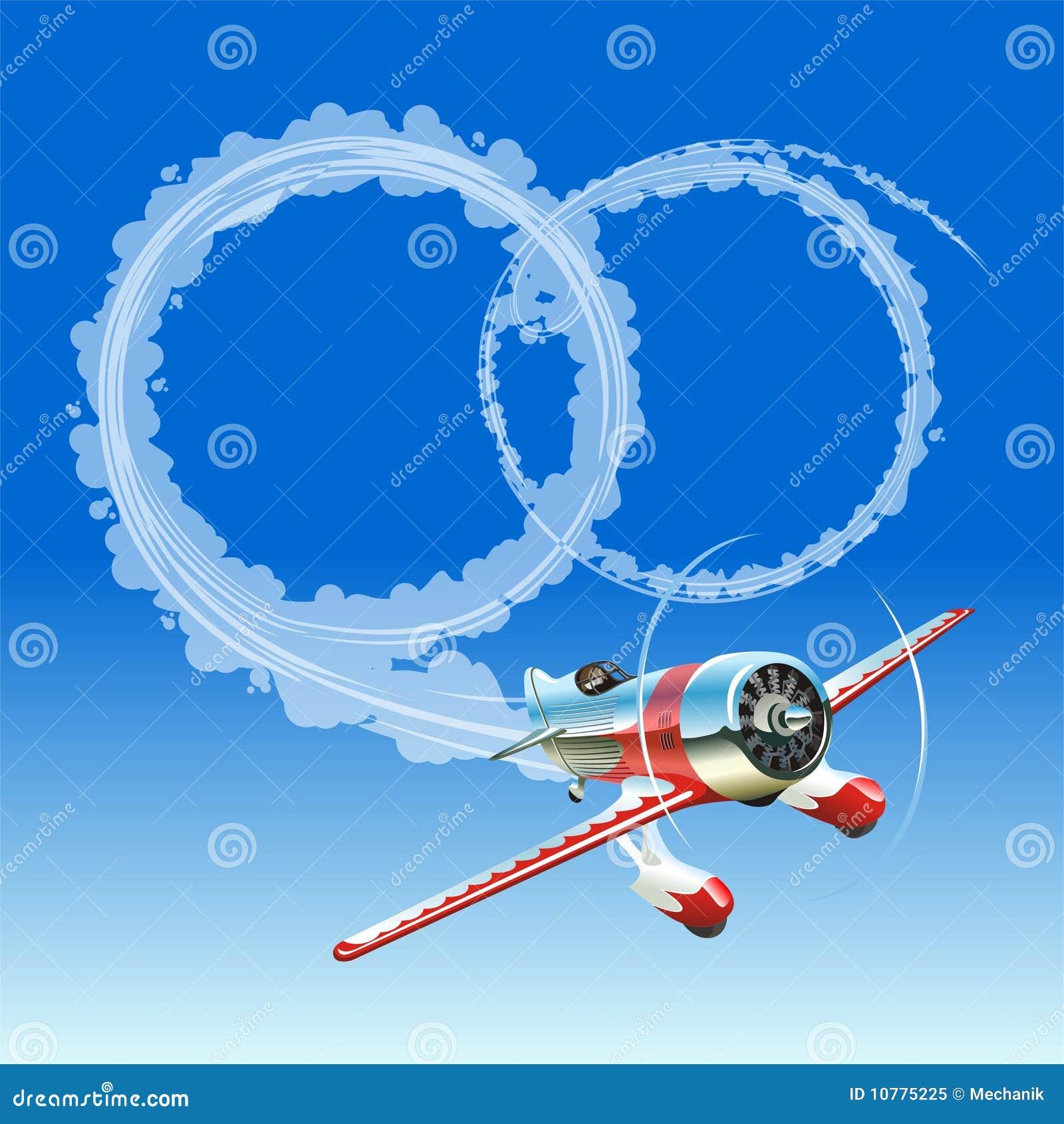 Vliegtuig dat huwelijksbericht verzendt