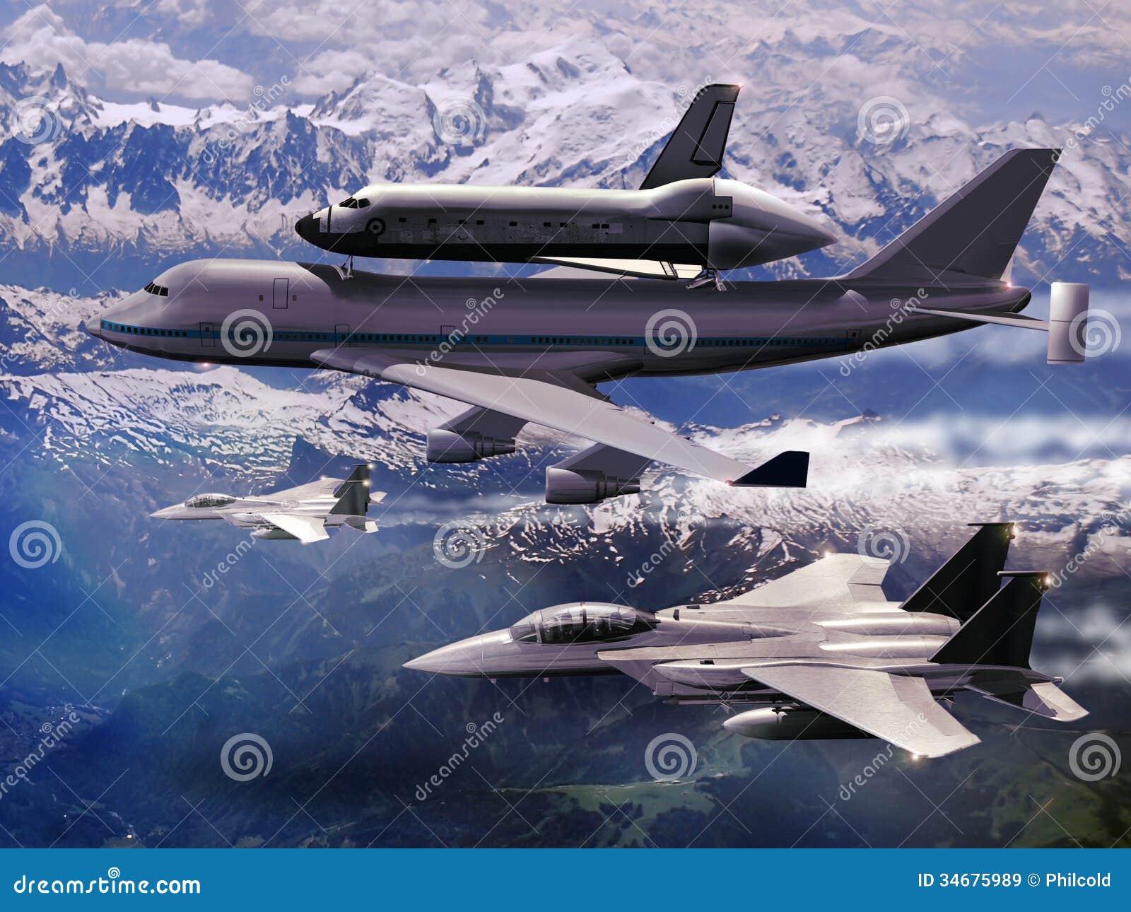 Vliegtuig en pendel