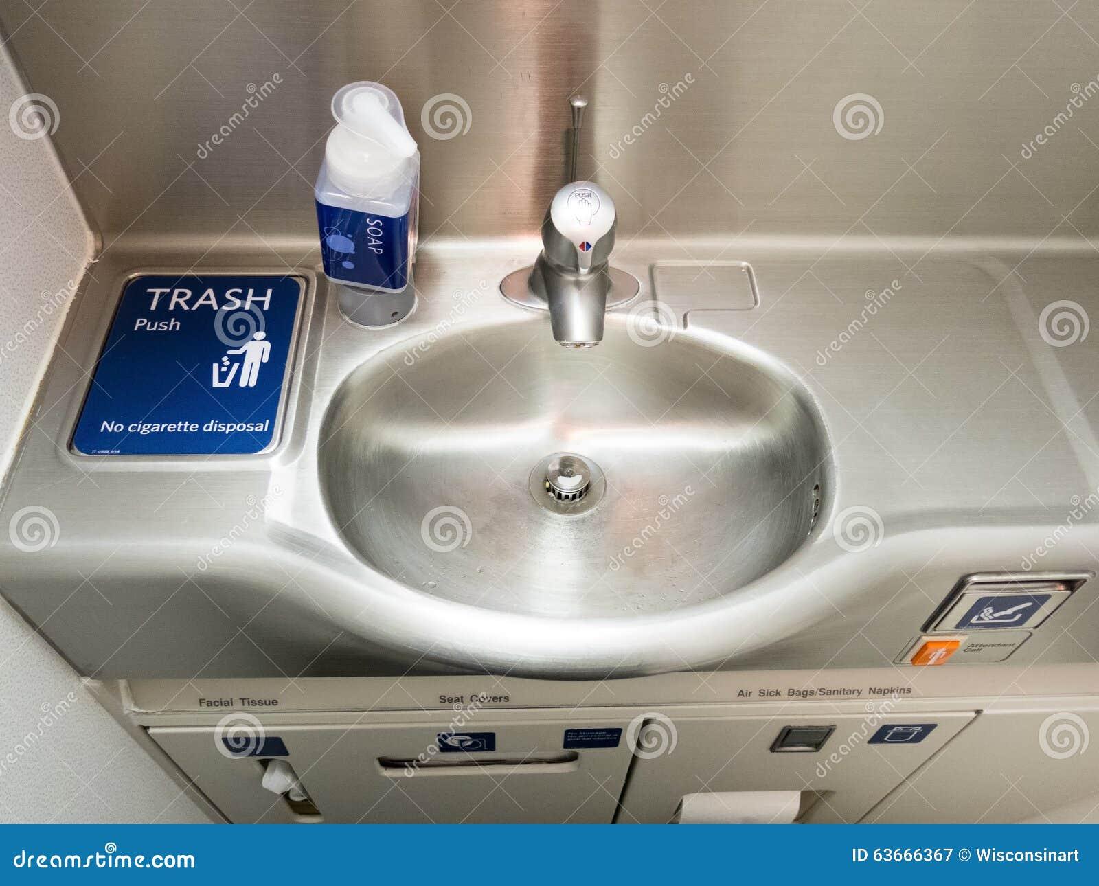 Vliegtuig Jet Travel Bathroom Restroom