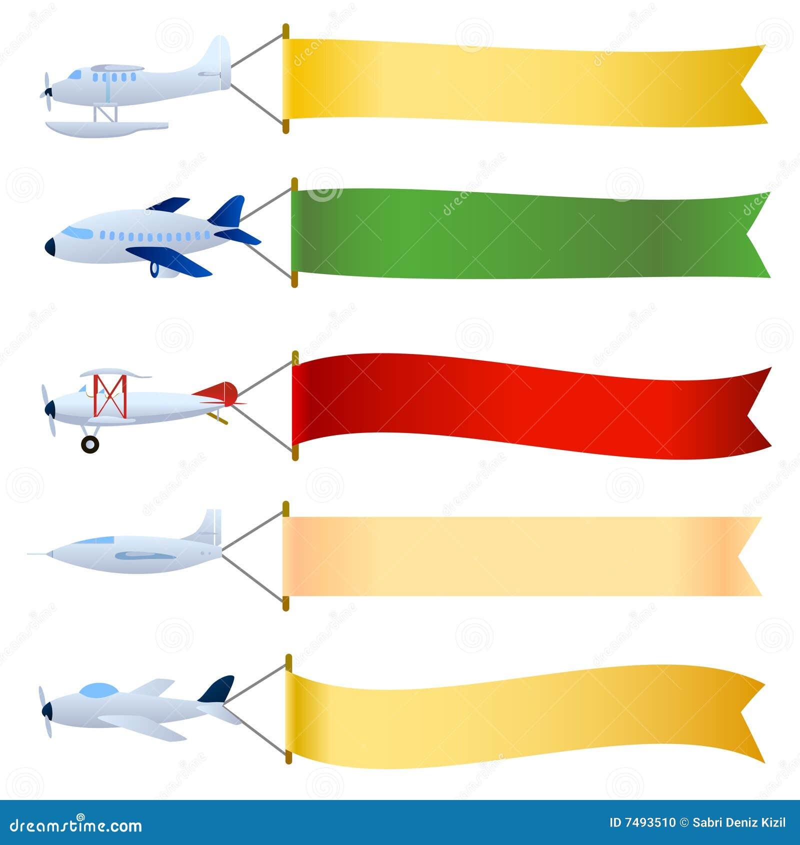 Vliegtuig met lege reeks