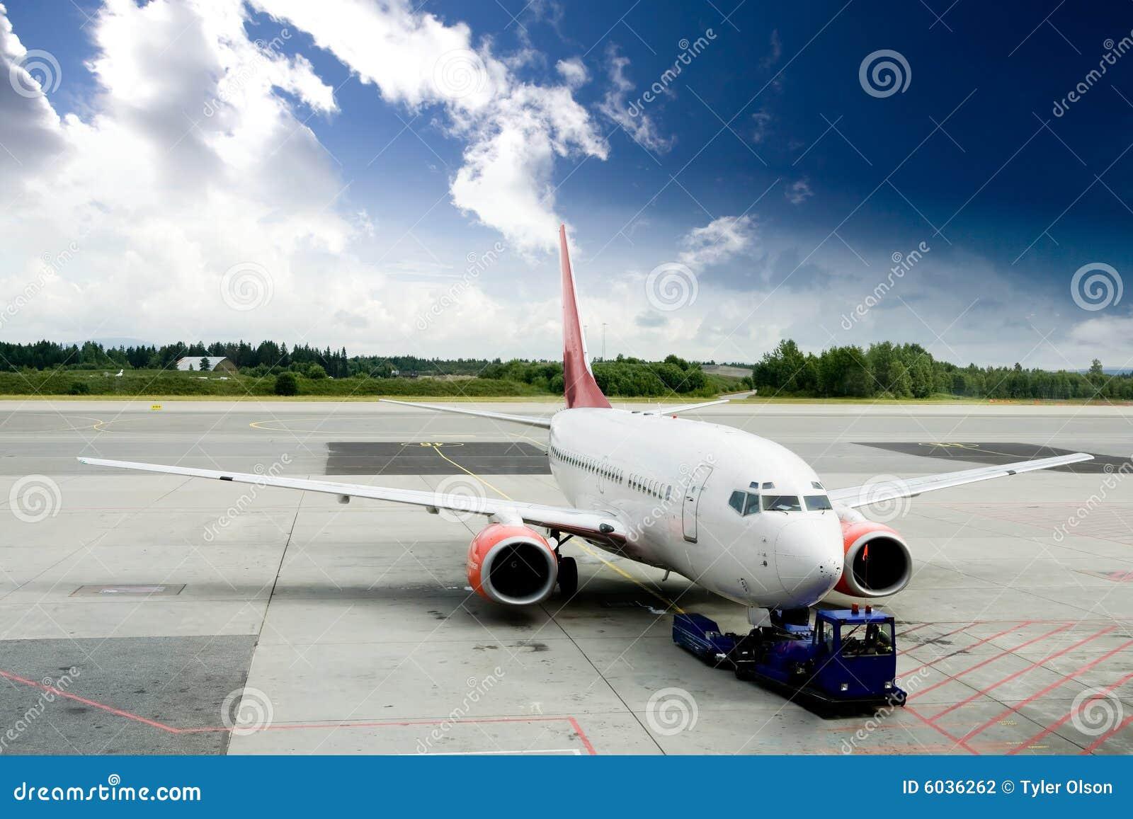 Vliegtuig op Tarmac