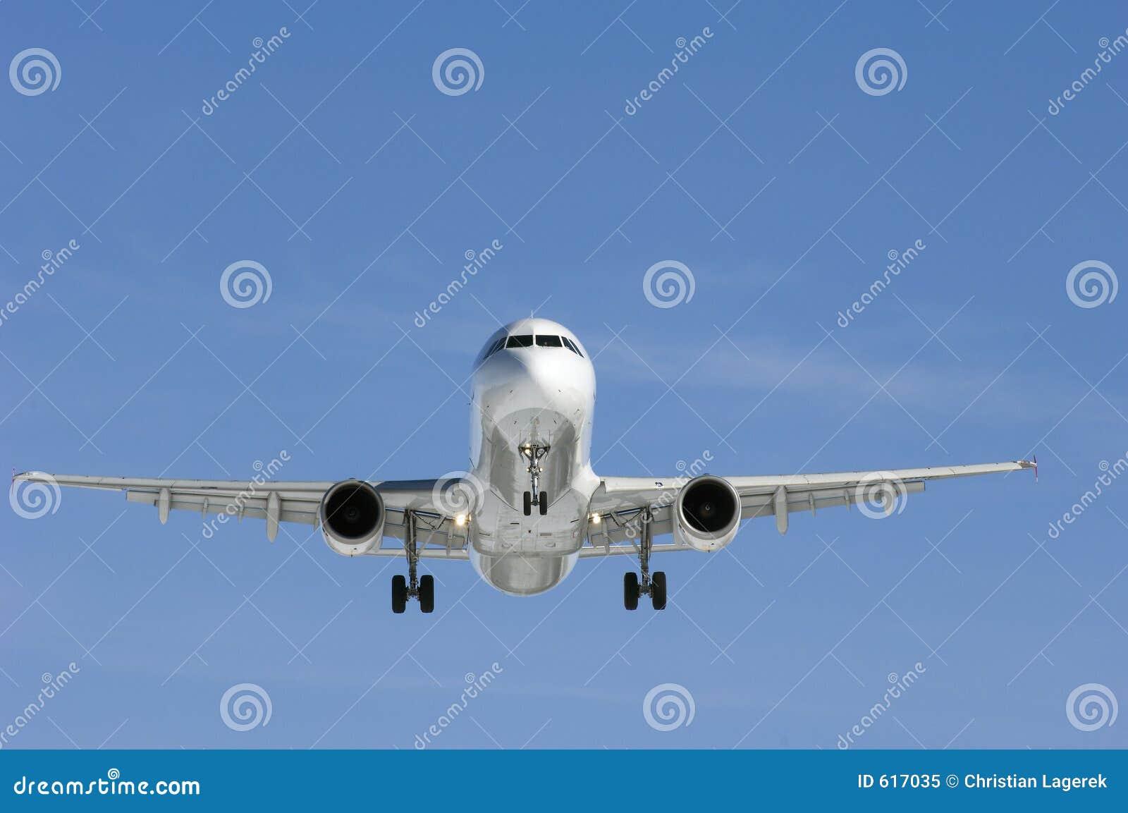 Vliegtuig in perfect licht