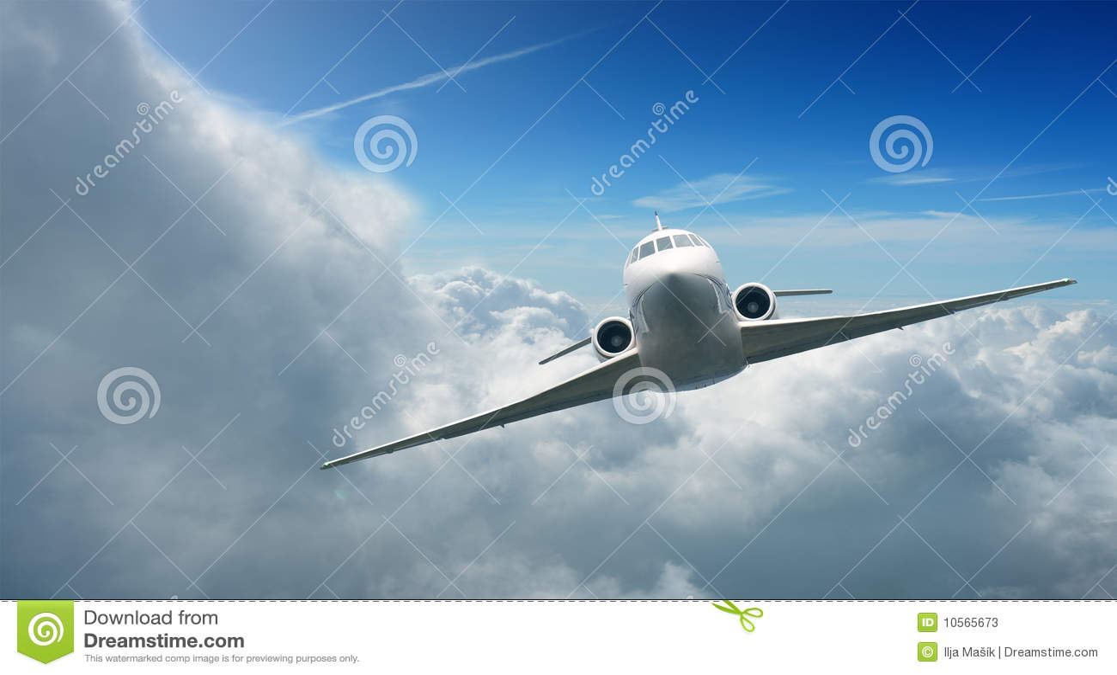 Vliegtuigen in de hemel
