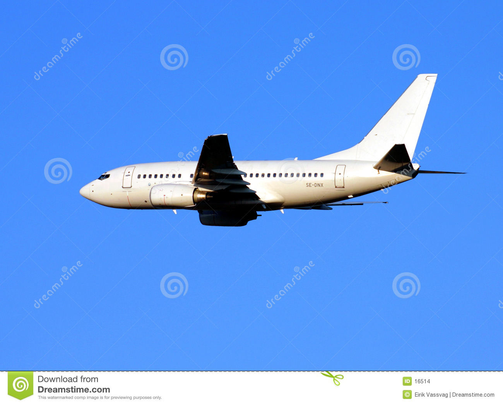 Vliegtuigen tijdens de vlucht