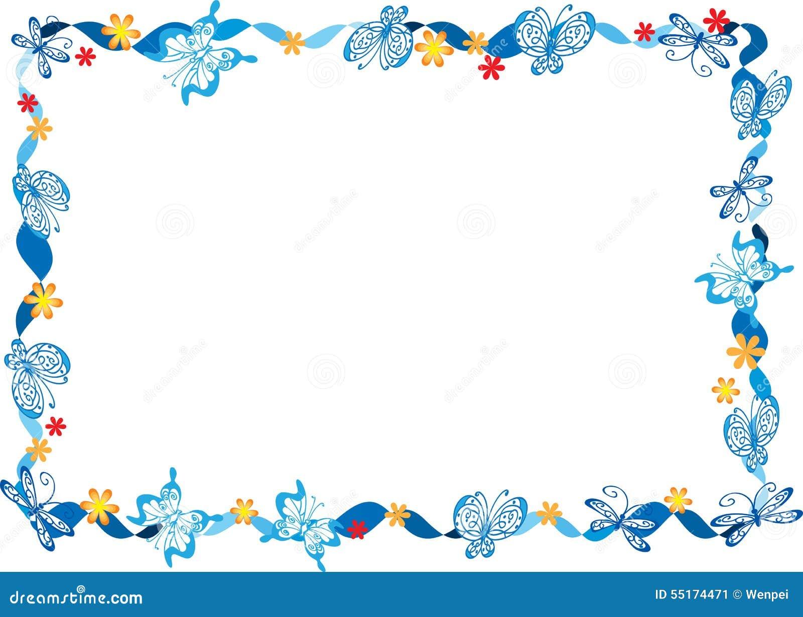 vlinder met kader stock illustratie illustratie bestaande