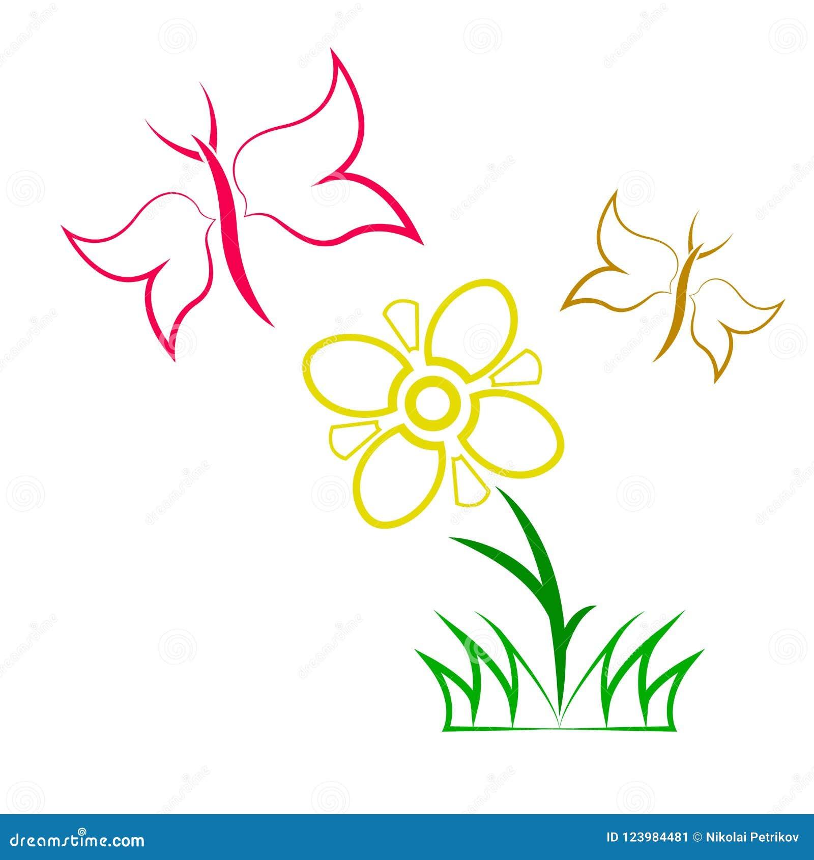 Vlindersvlieg dichtbij de bloem