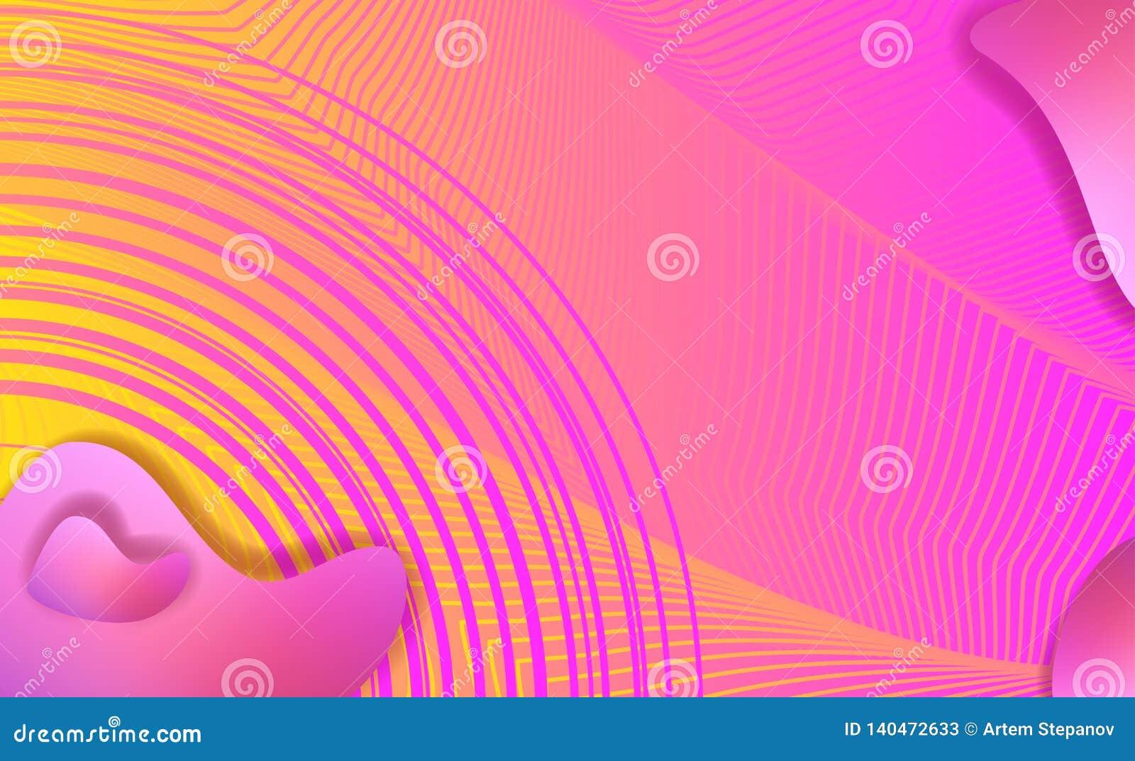 Vloeibare elementen, gemengde kleuren plastic vormen of organische bellen