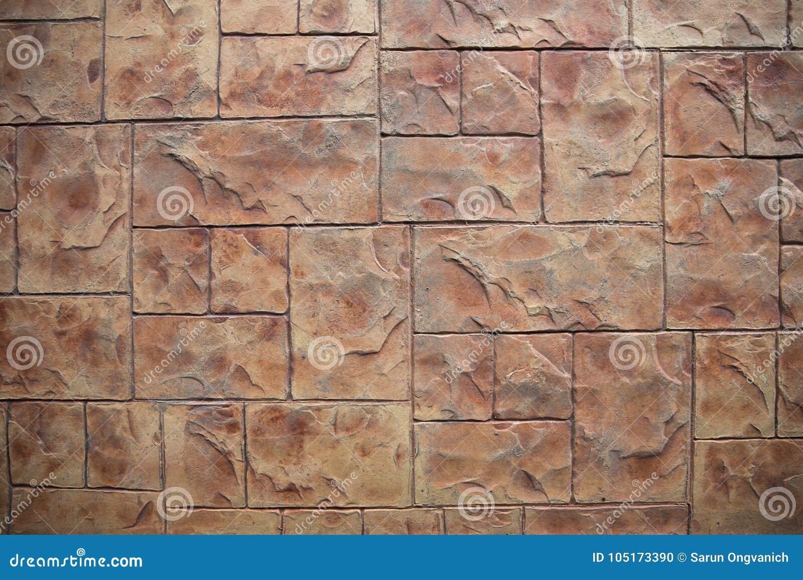 Vloer van de blok de bruine tegel