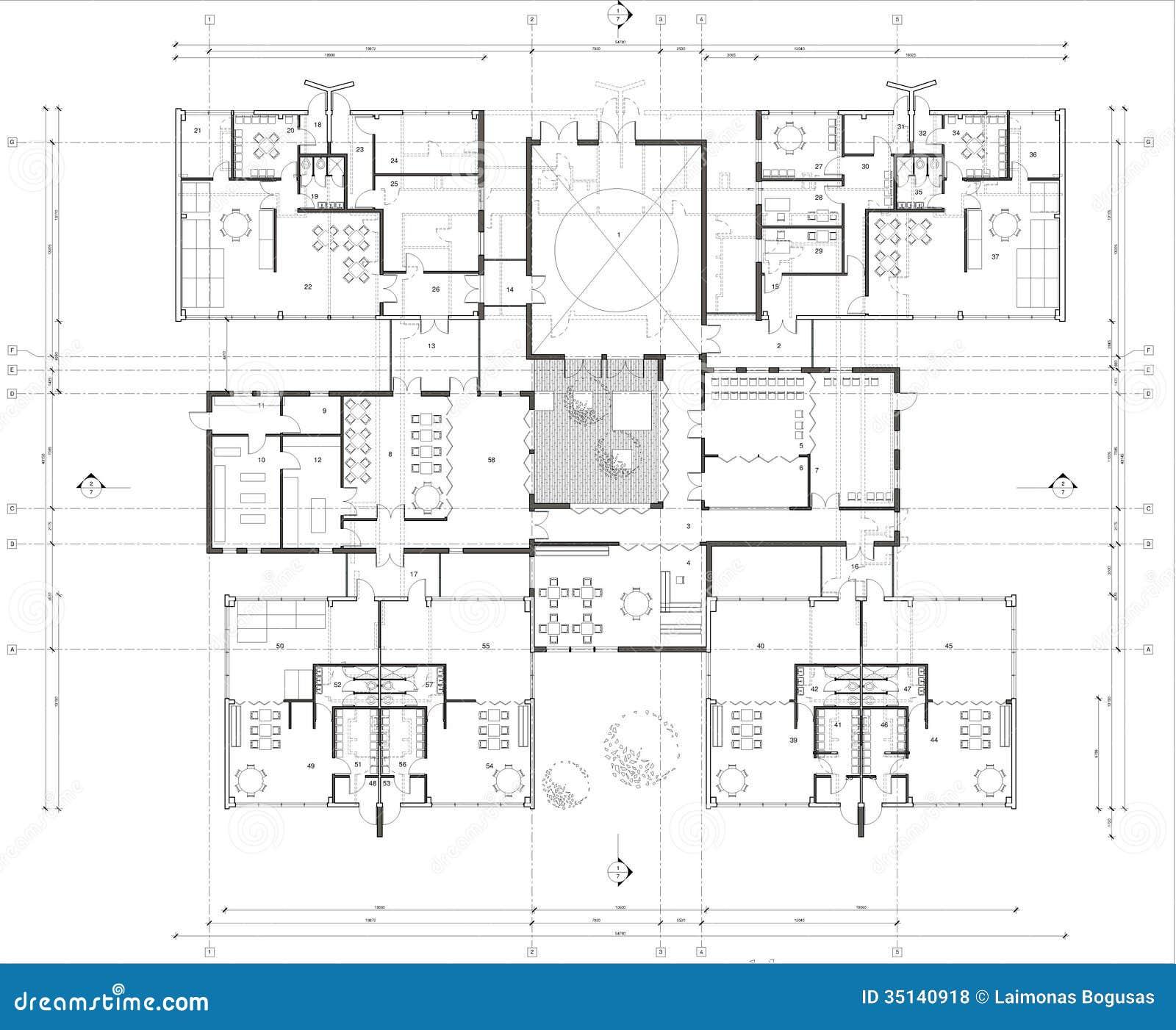 Vloerplan van de kleuterschool royalty vrije stock foto 39 s afbeelding 35140918 - Vloerplan studio m ...