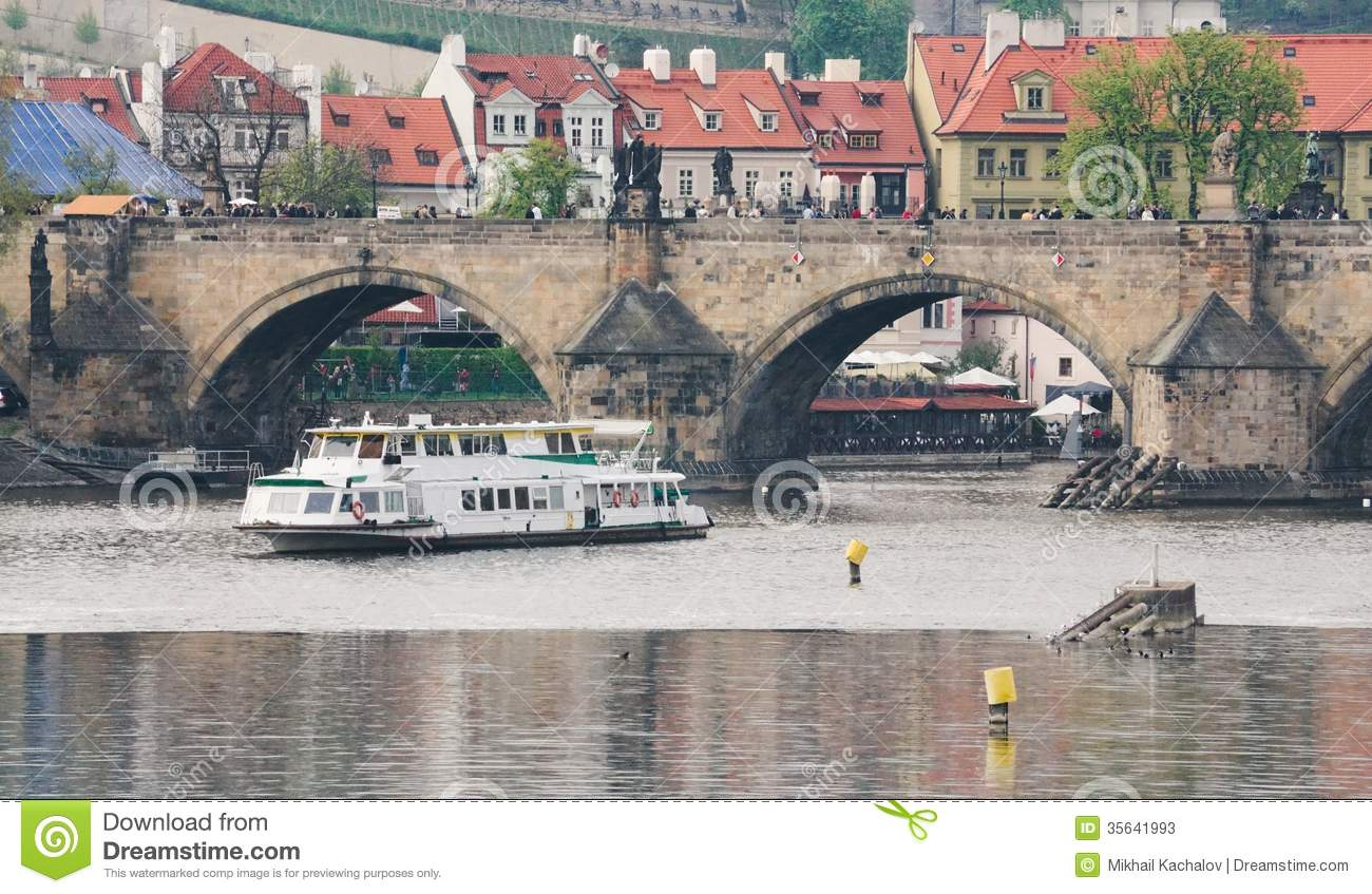 Vltava near the charles bridge stock photos image 35641993 for Where is prague near