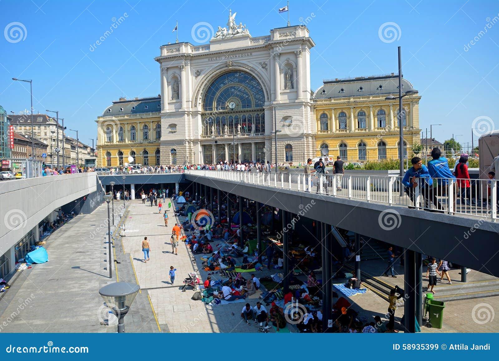 Vluchtelingen in Boedapest, Keleti-Station