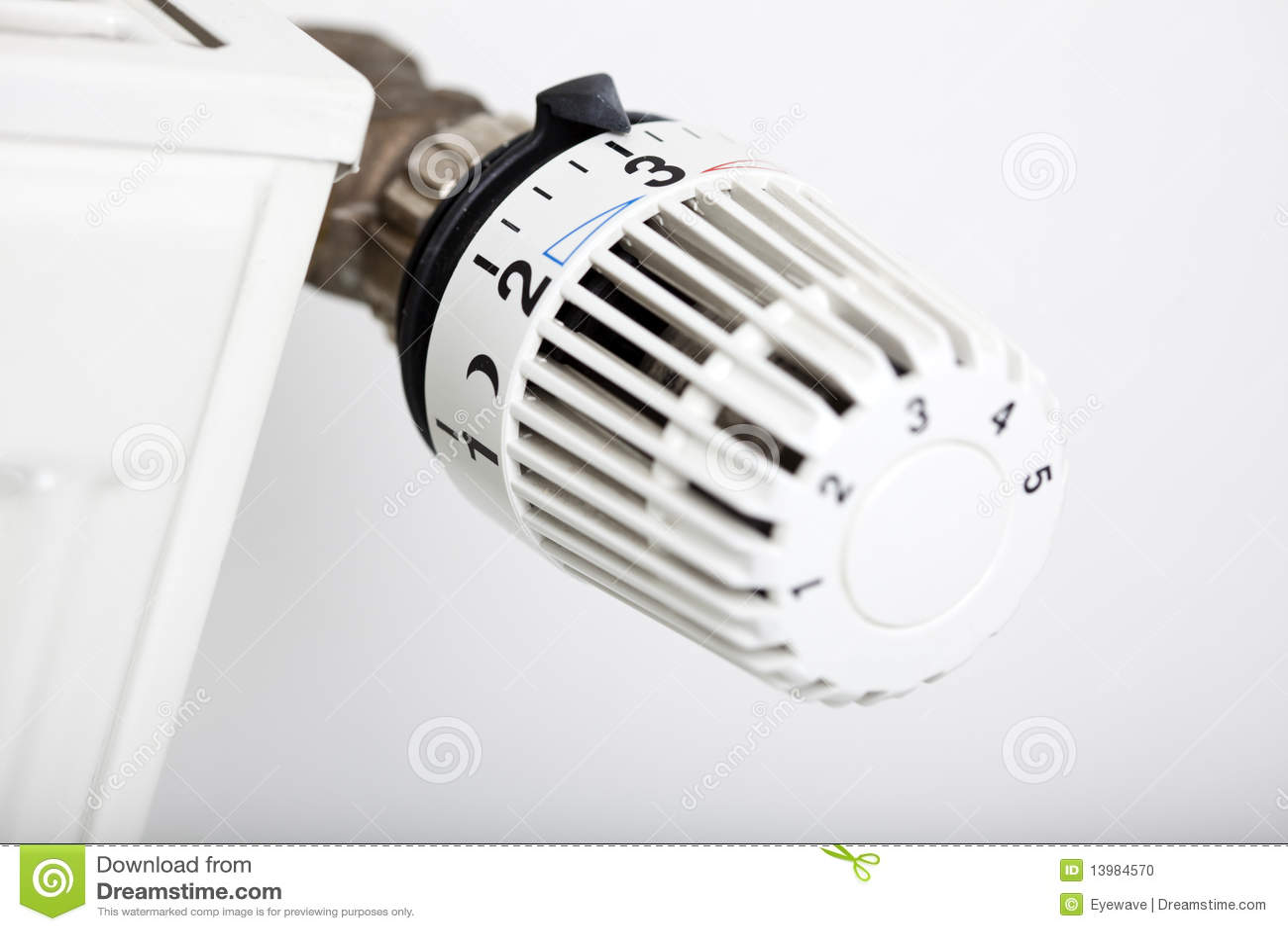 V lvula termost tica do radiador foto de stock imagem - Valvula termostatica radiador ...