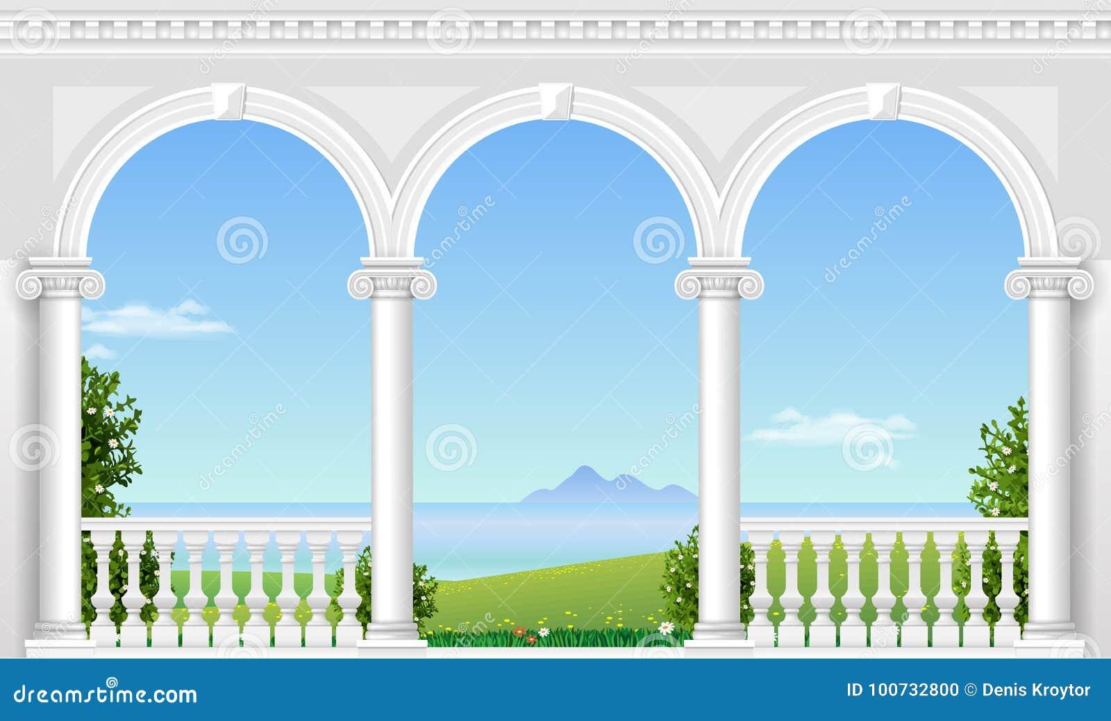 Voûte blanche du palais
