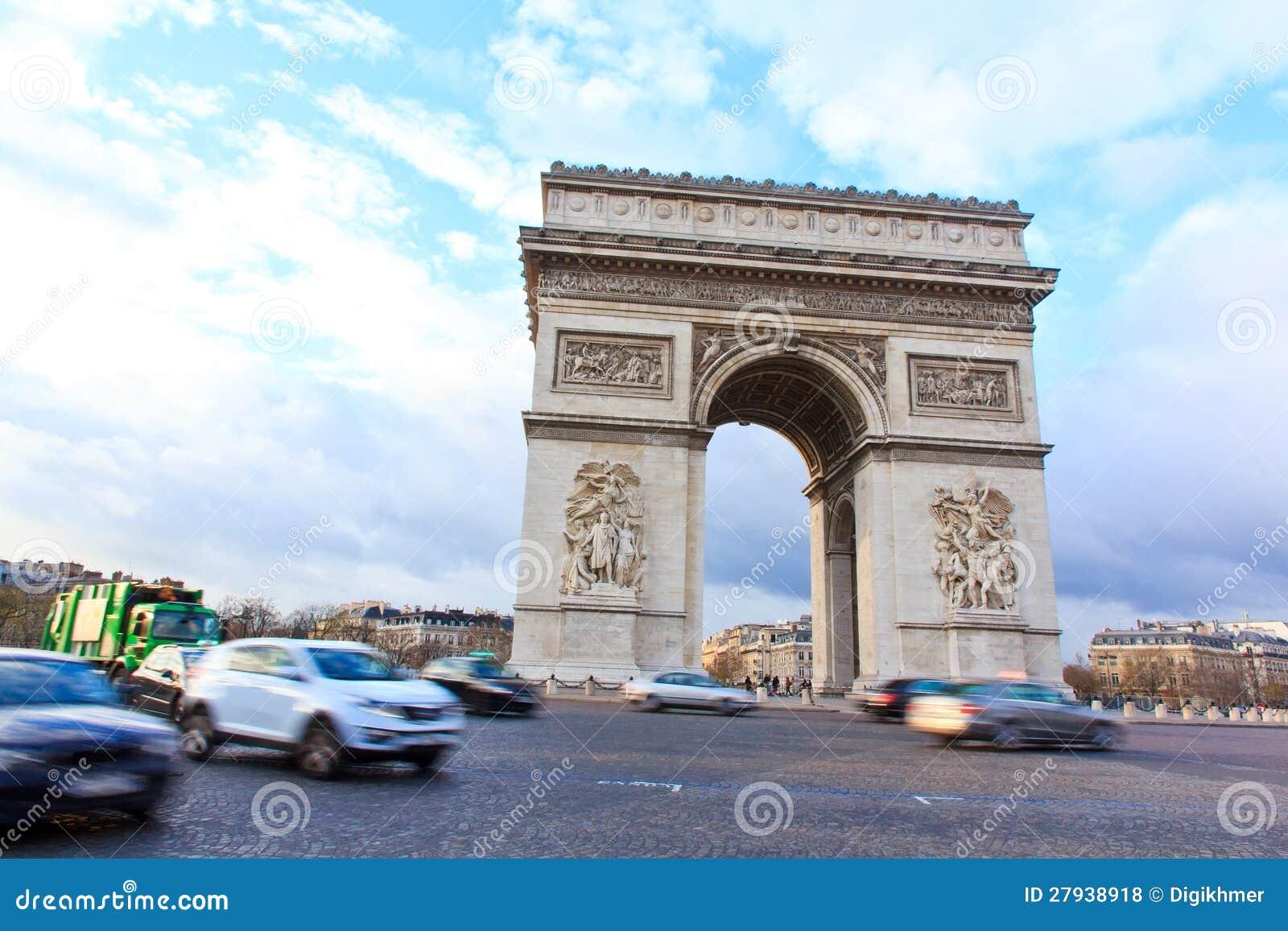 Voûte de triomphe de Paris, France