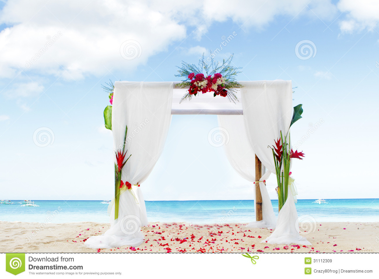 vo te de mariage sur la plage images libres de droits image 31112309. Black Bedroom Furniture Sets. Home Design Ideas
