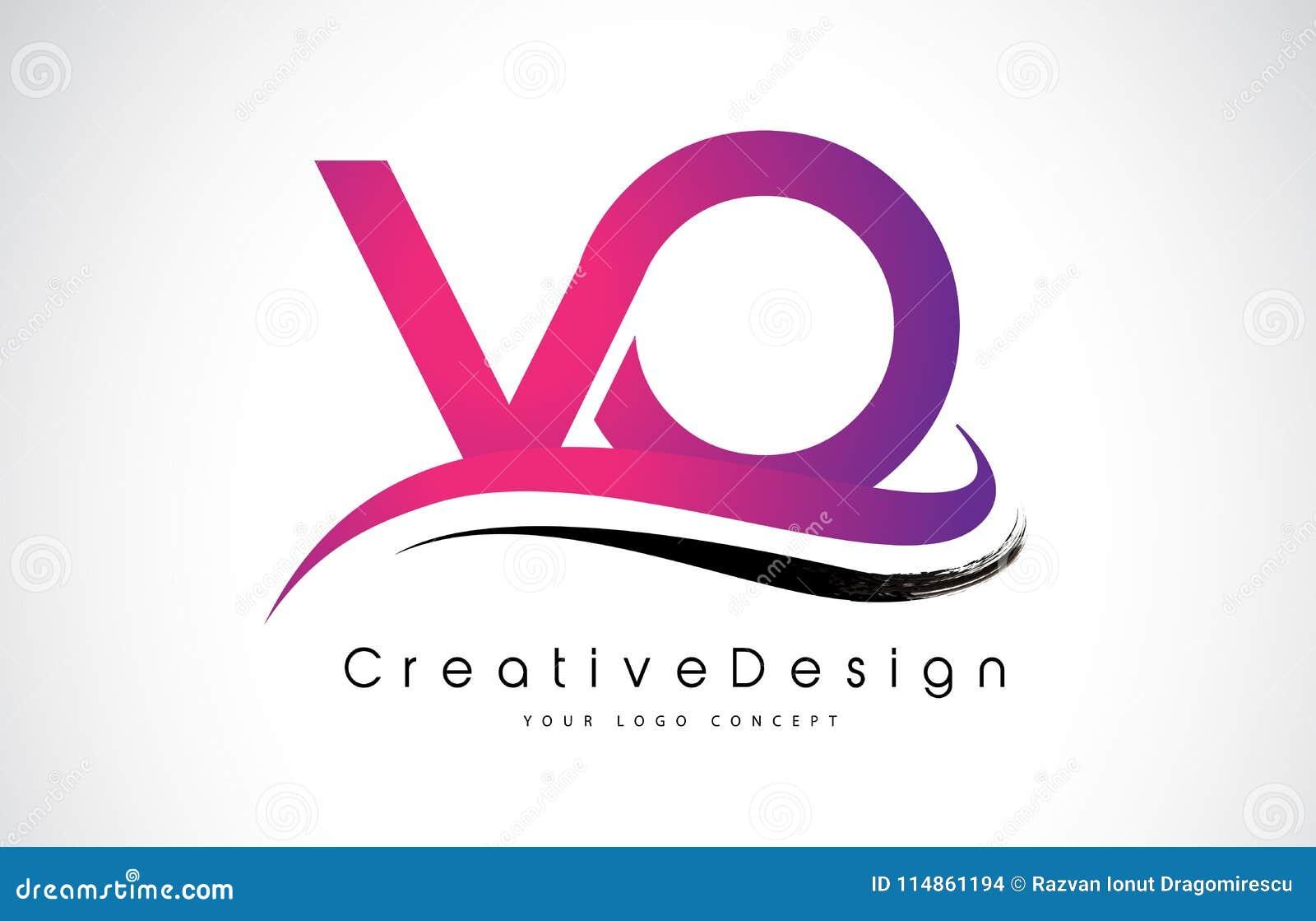 VO V O Letter Logo Design. Creative Icon Modern Letters Vector L ...
