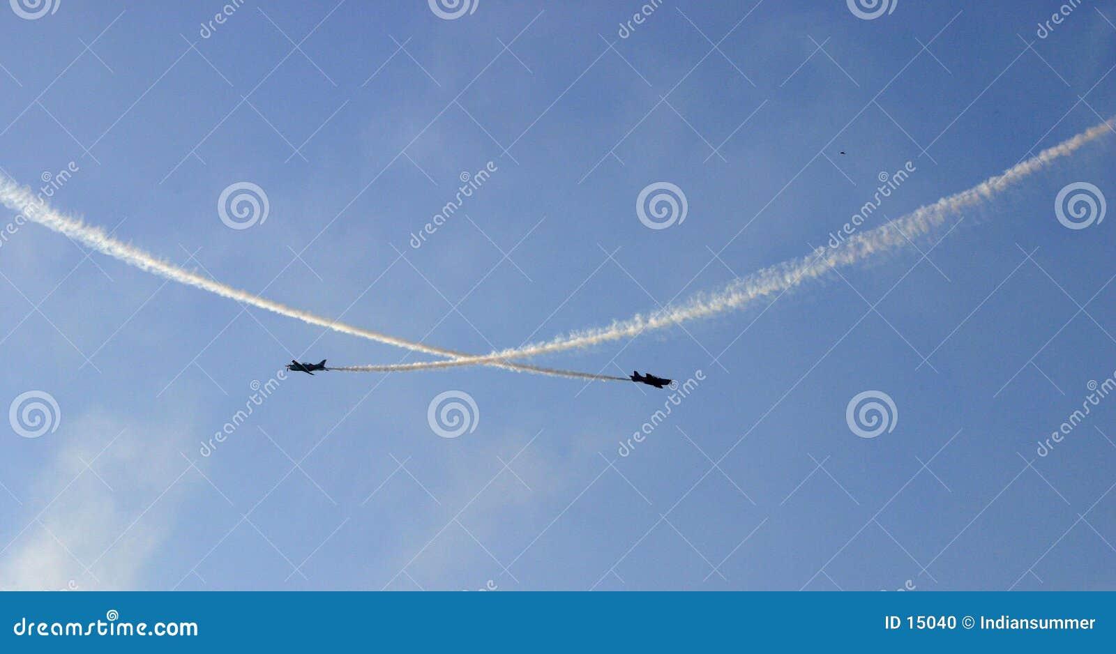 Voando II frente a frente