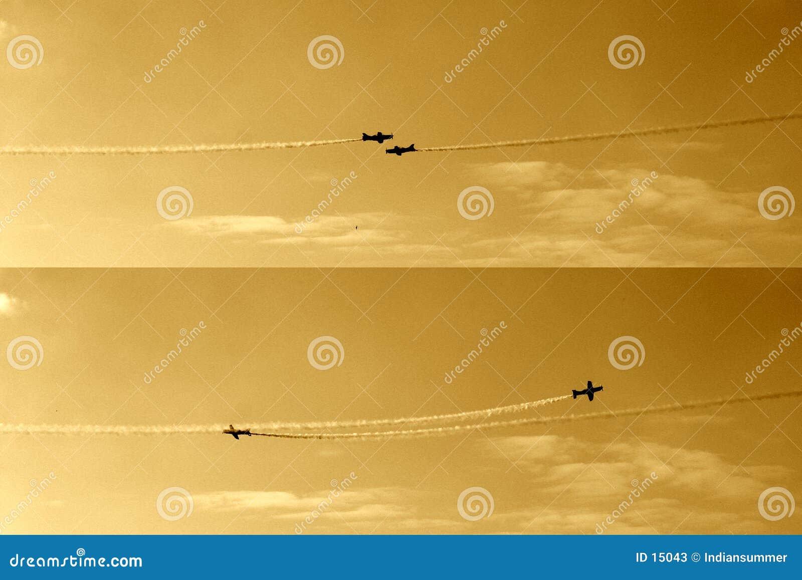 Voando III frente a frente