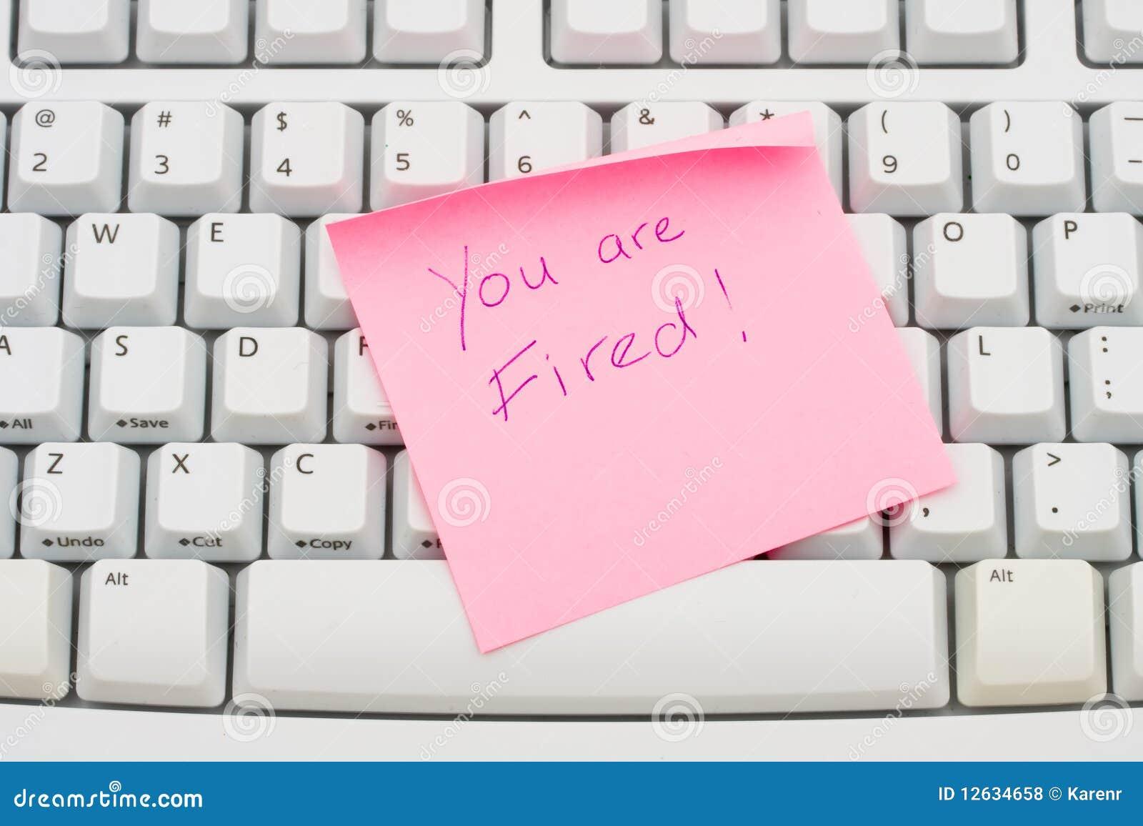 Você é despedido